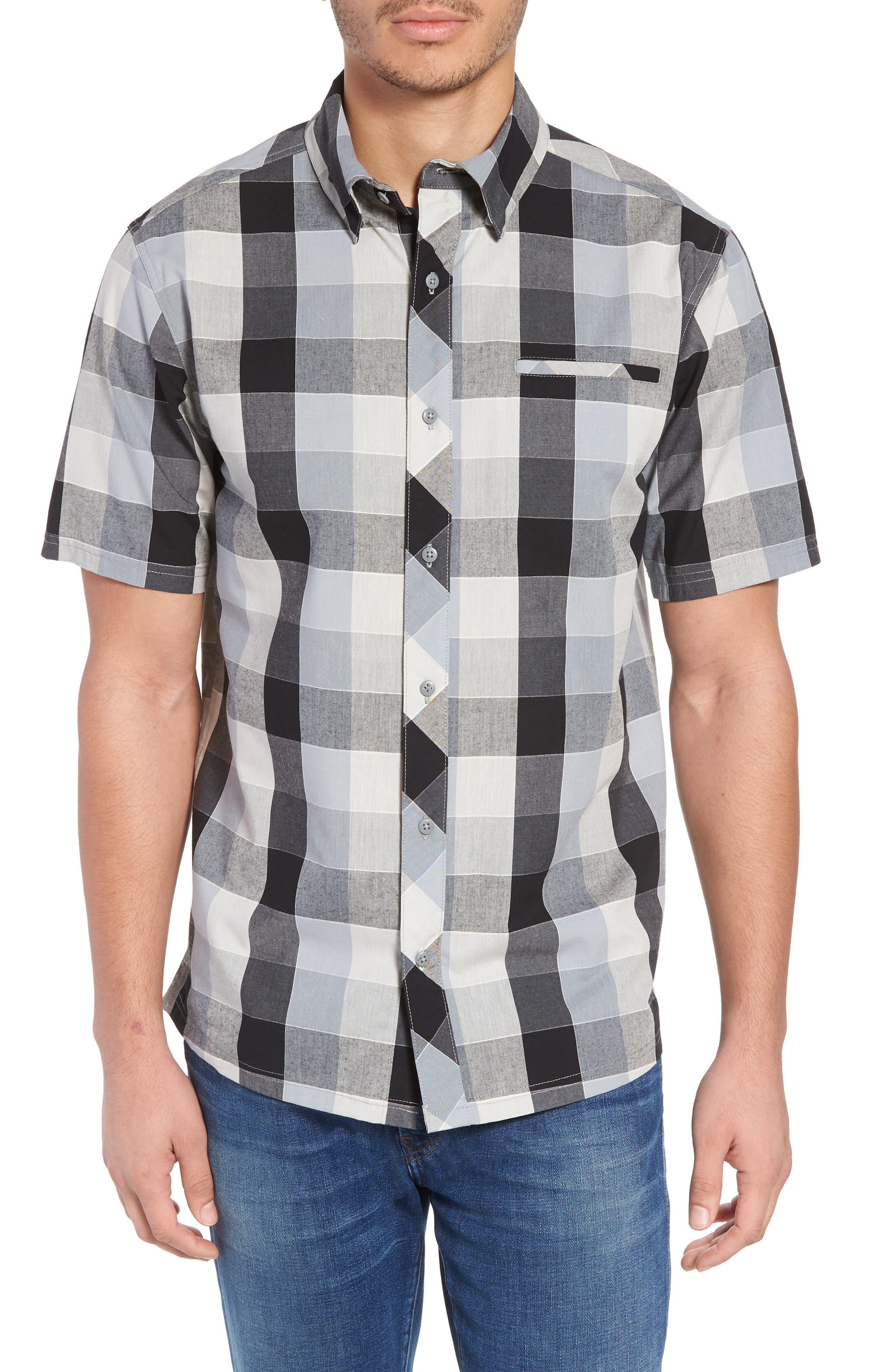 Everyday Exploration Short Sleeve Sport Shirt,                             Main thumbnail 1, color,                             Light Grey