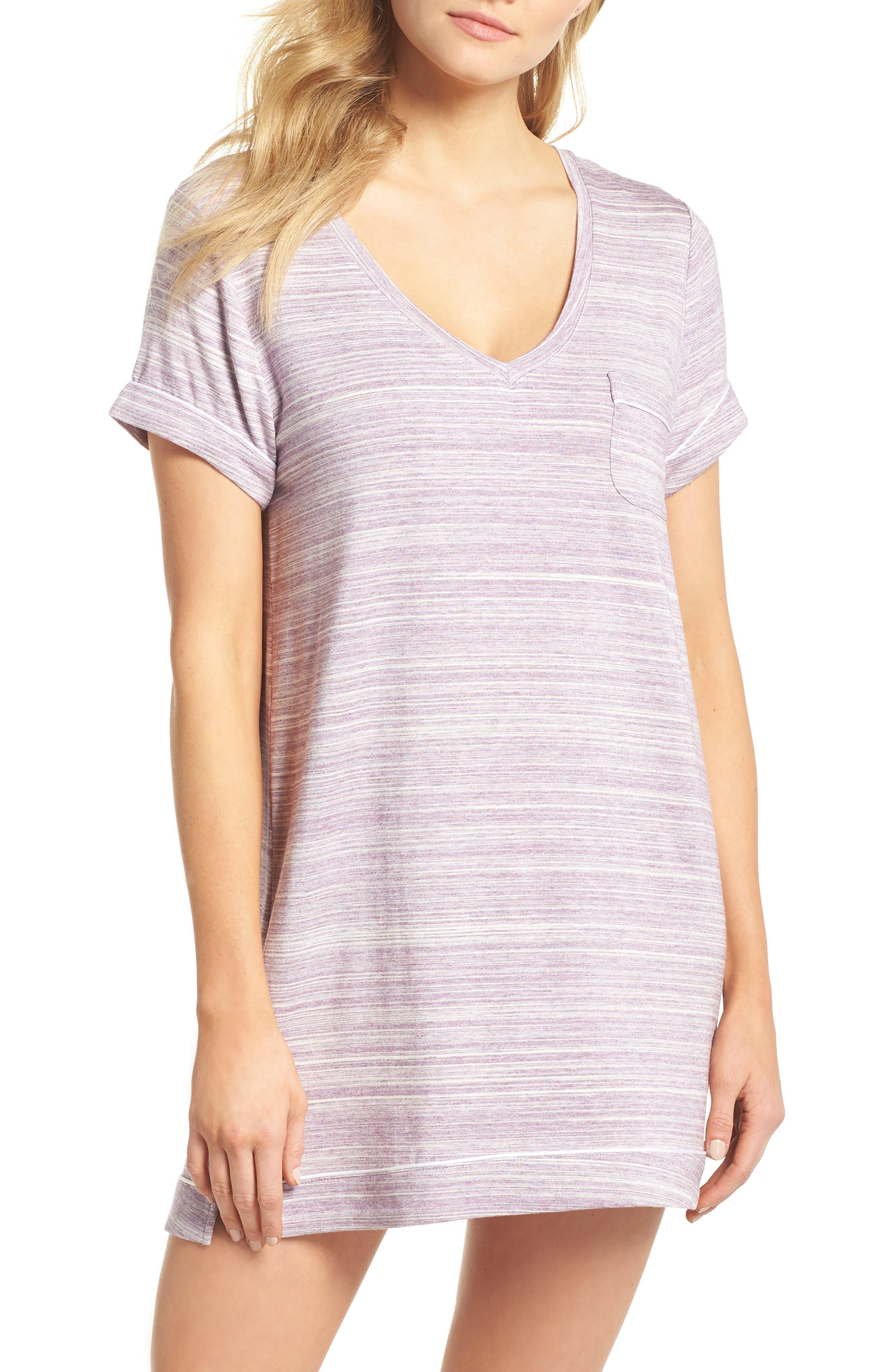 Moonlight Sleep Shirt,                             Main thumbnail 1, color,                             Purple Spacedye
