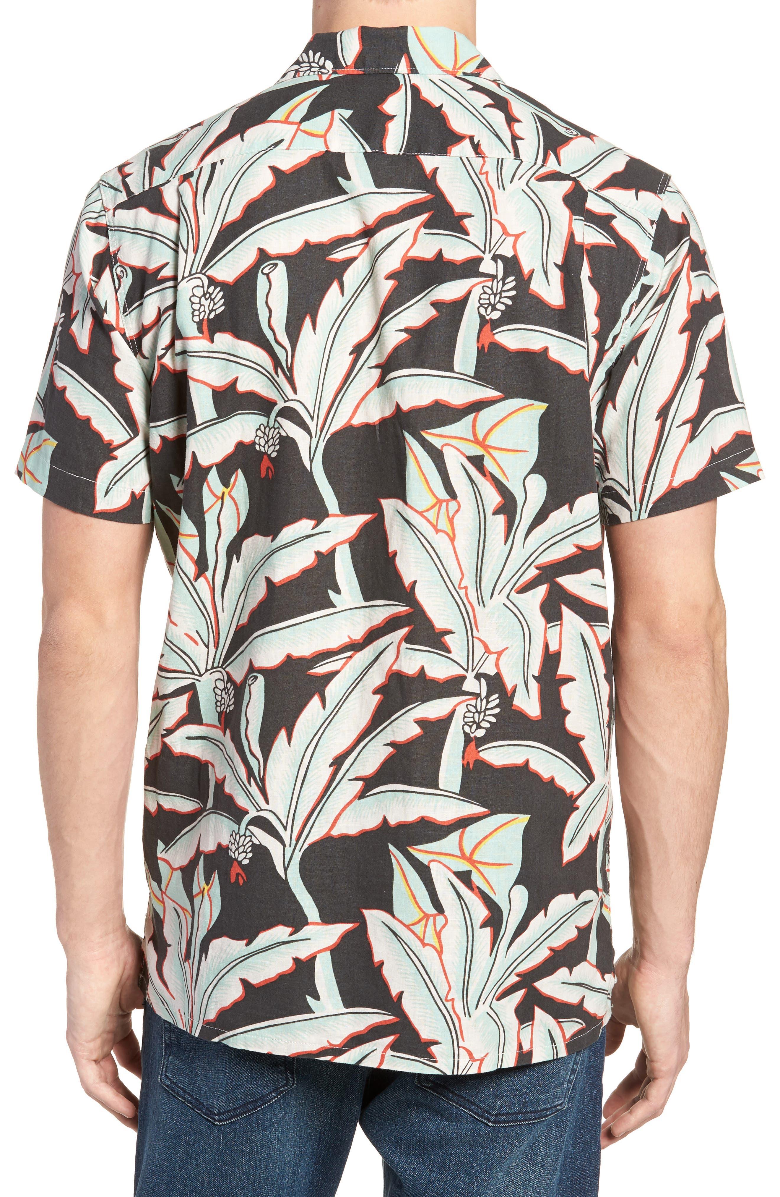Hawaiian Woven Shirt,                             Alternate thumbnail 2, color,                             Holtville Ming Green