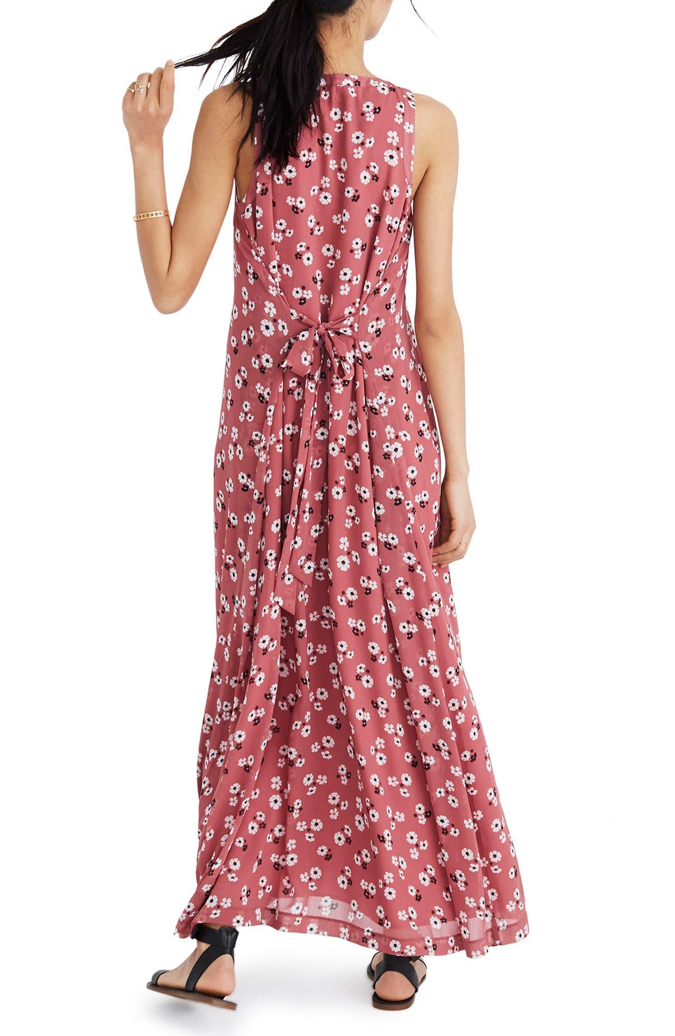 Daisy Tie Waist Maxi Dress,                             Alternate thumbnail 2, color,                             Autumn Berry