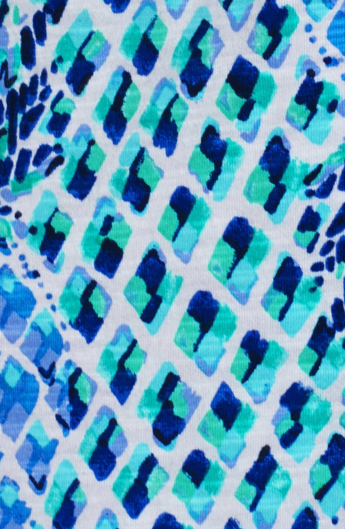 Joy Tunic Dress,                             Alternate thumbnail 5, color,                             Resort White Toe In