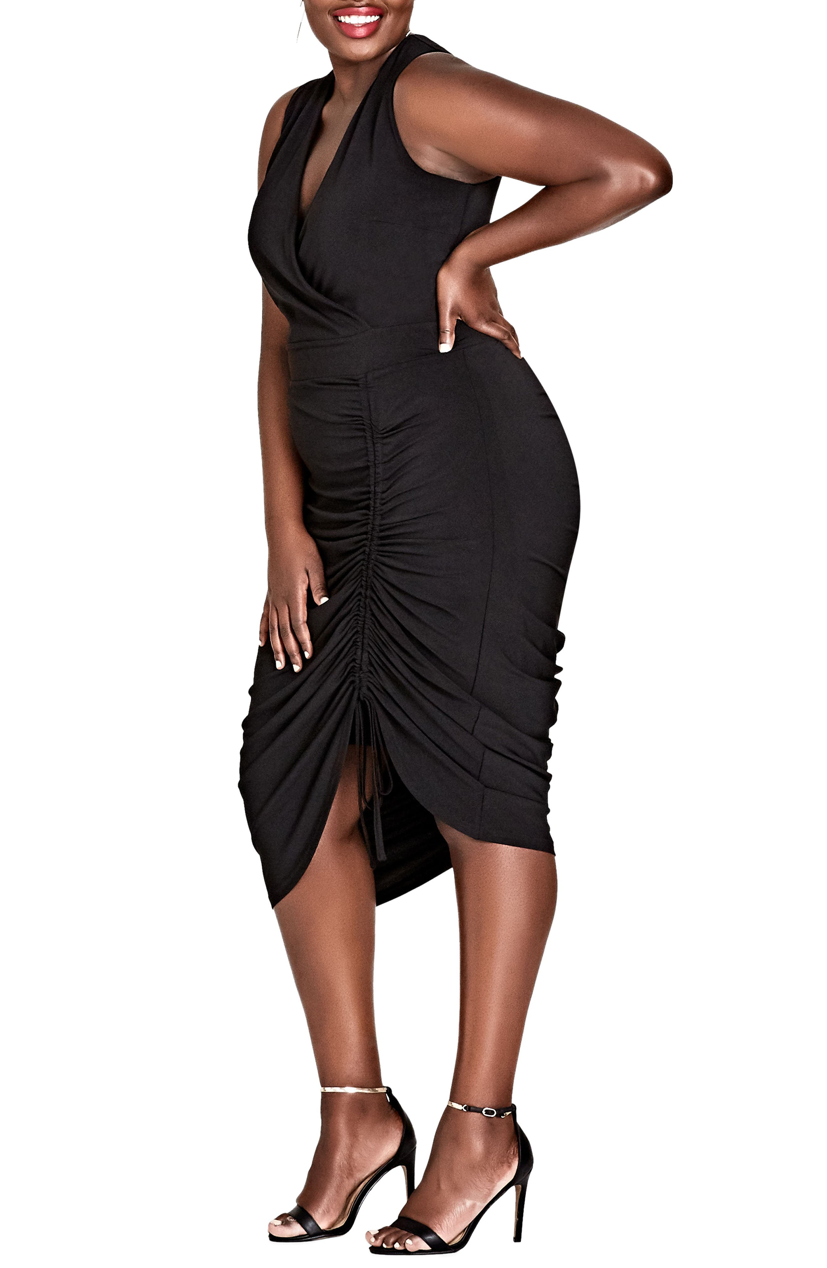 Sexy Curve Jersey Body-Con Dress,                             Main thumbnail 1, color,                             Black