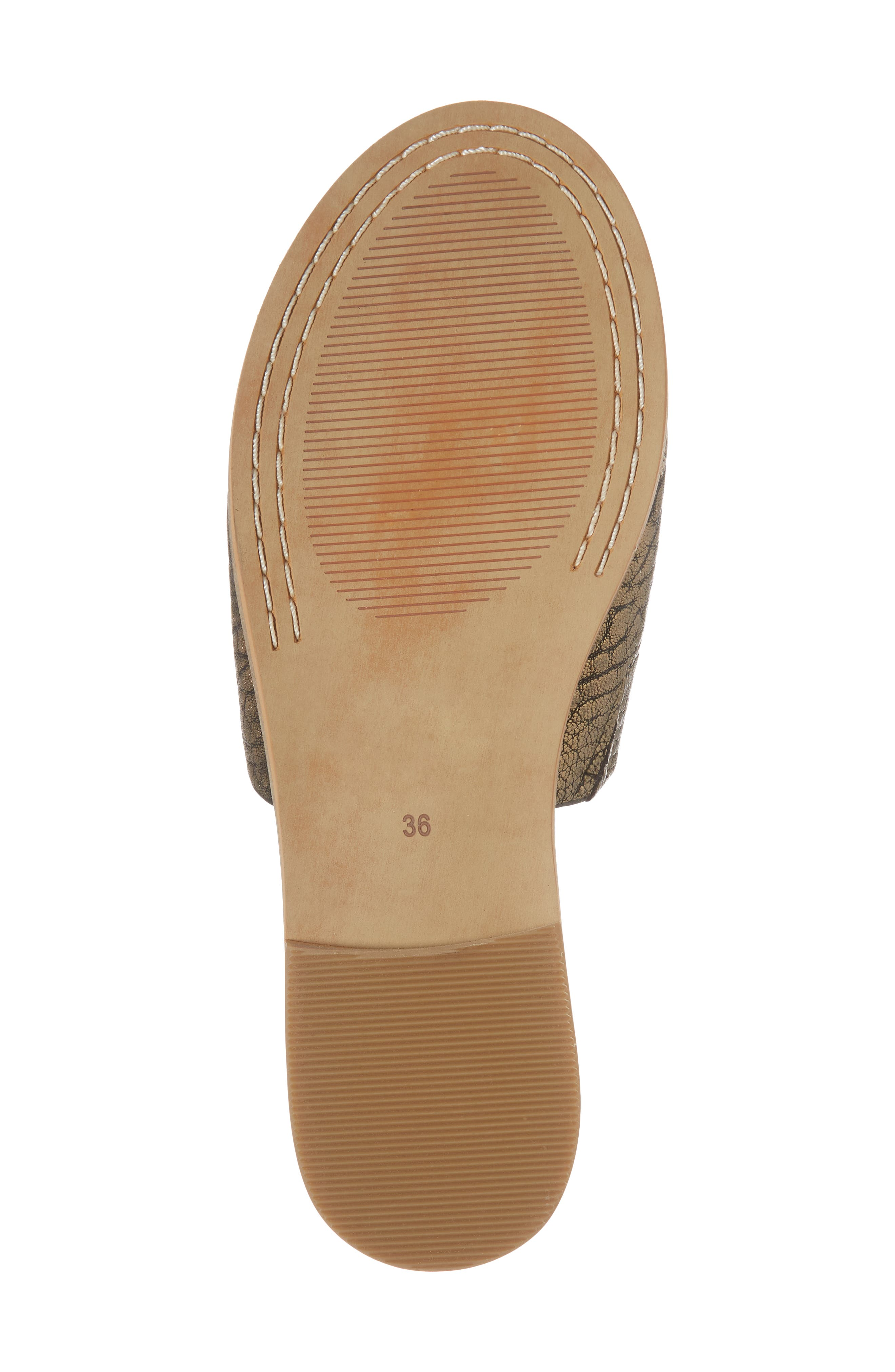 Therapy Slide Sandal,                             Alternate thumbnail 6, color,                             Gold Leather