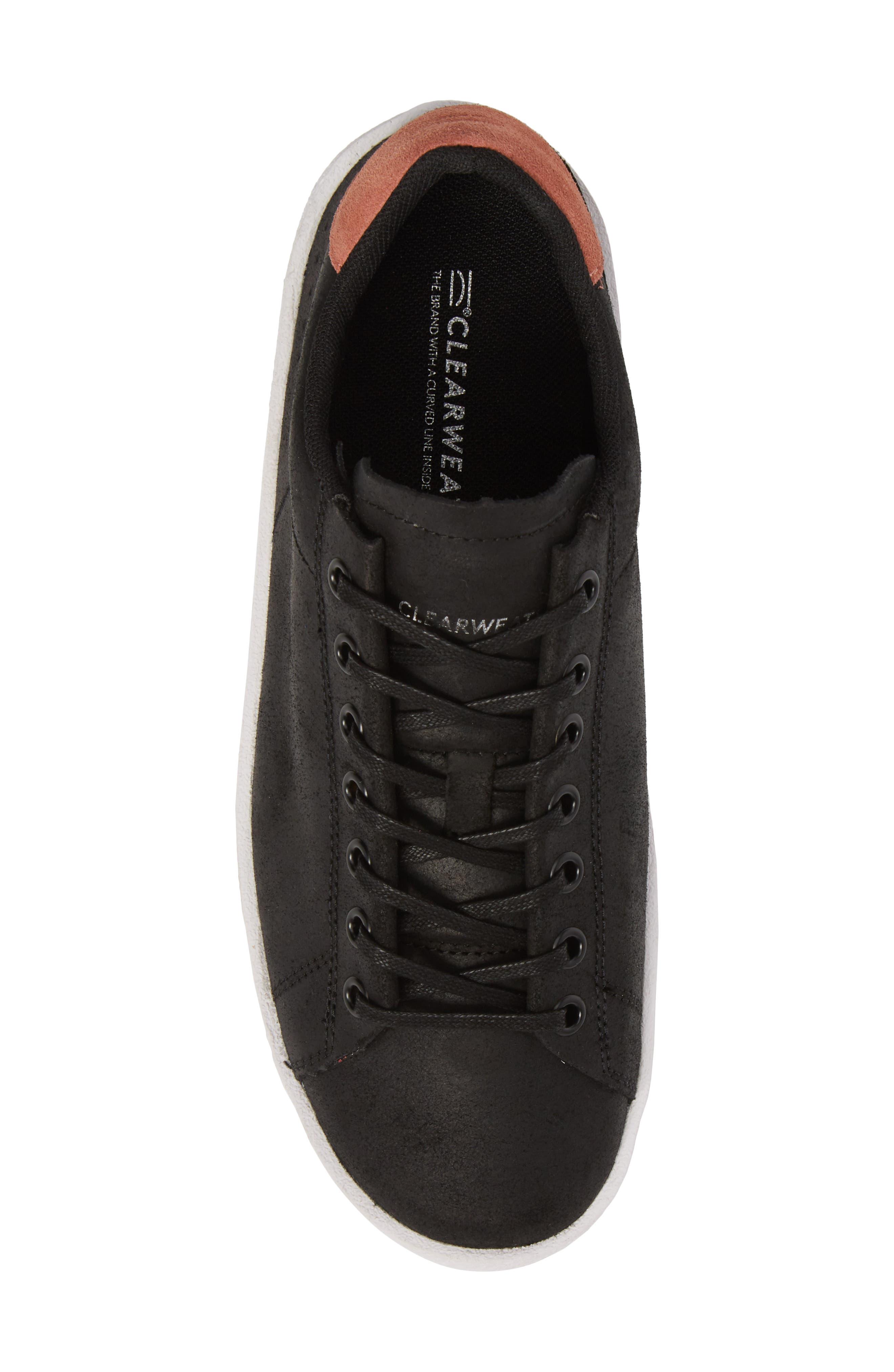 Jones Platform Sneaker,                             Alternate thumbnail 5, color,                             Black Leather