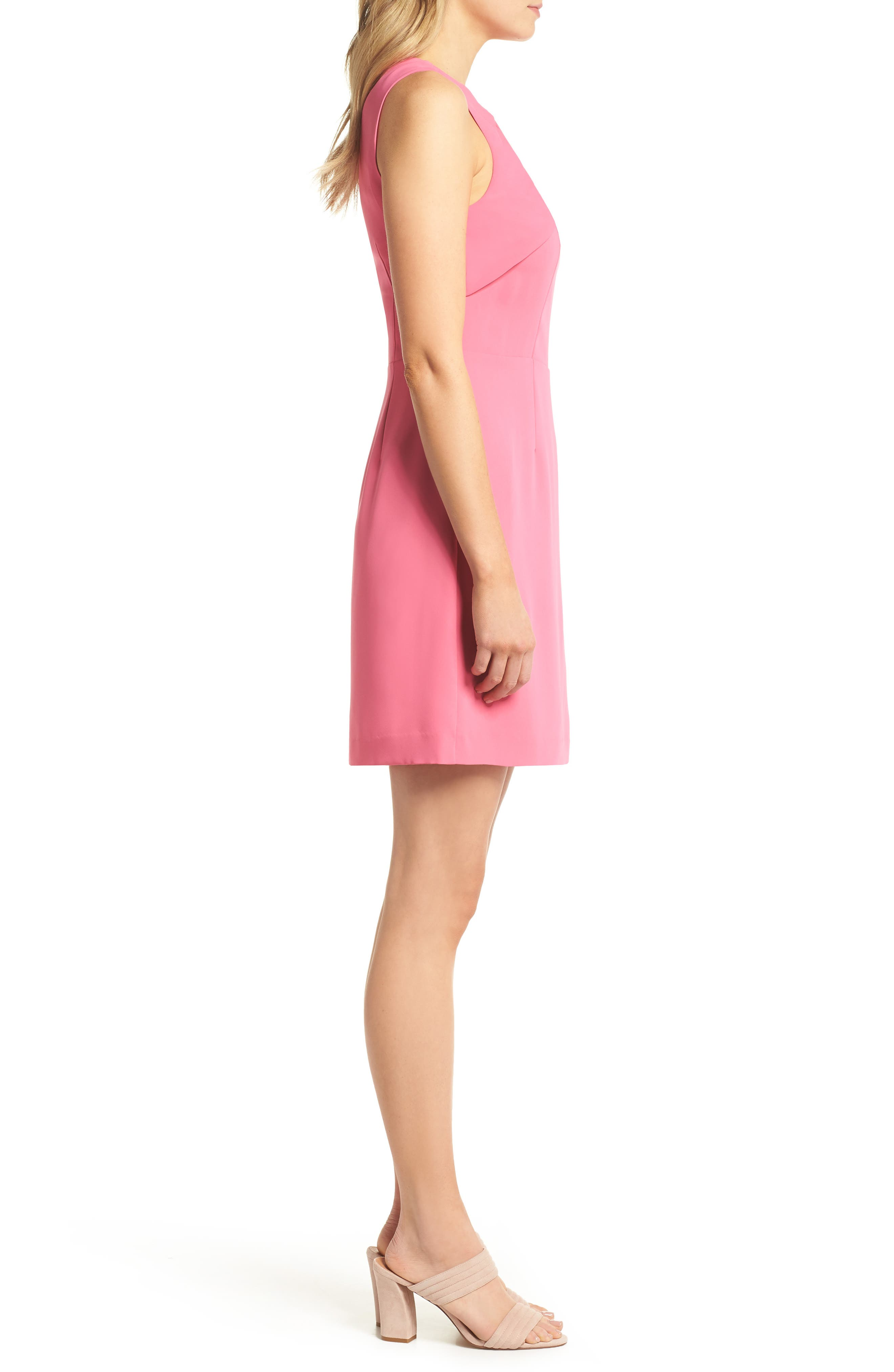 Nera Sheath Dress,                             Alternate thumbnail 3, color,                             Peony