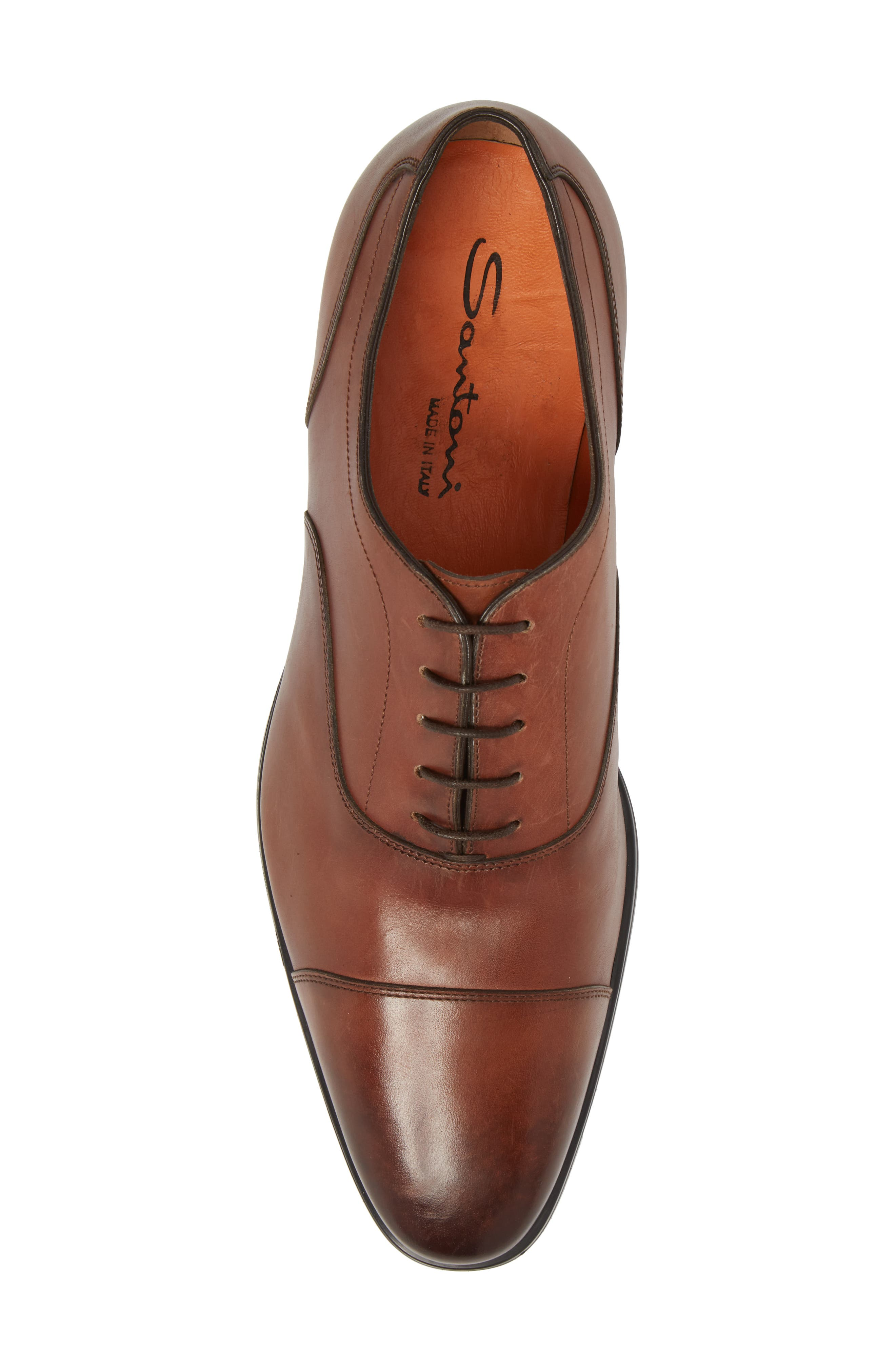 Eamon Cap Toe,                             Alternate thumbnail 4, color,                             Brown