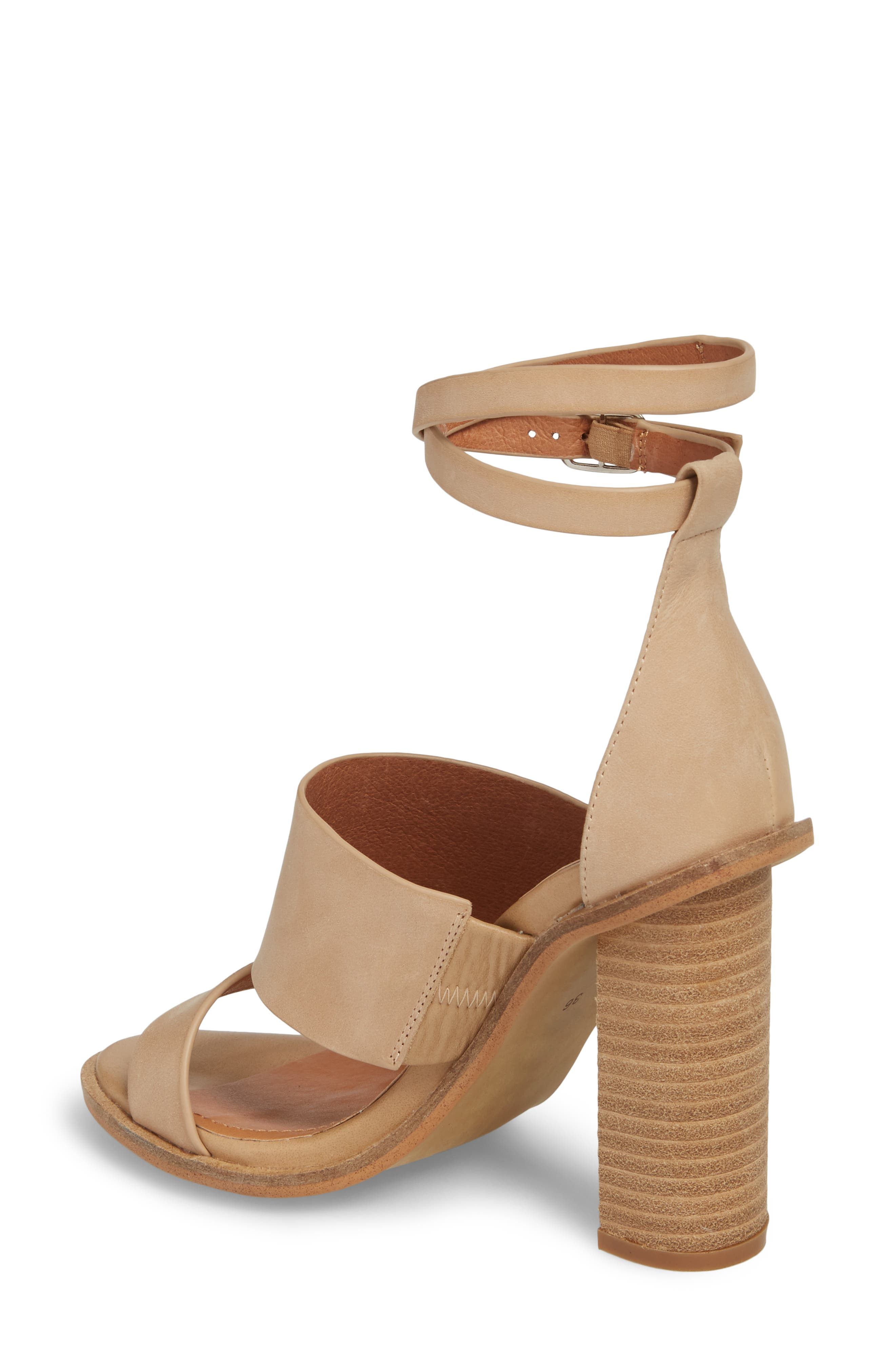 Admiral Ankle Wrap Sandal,                             Alternate thumbnail 2, color,                             Natural Leather