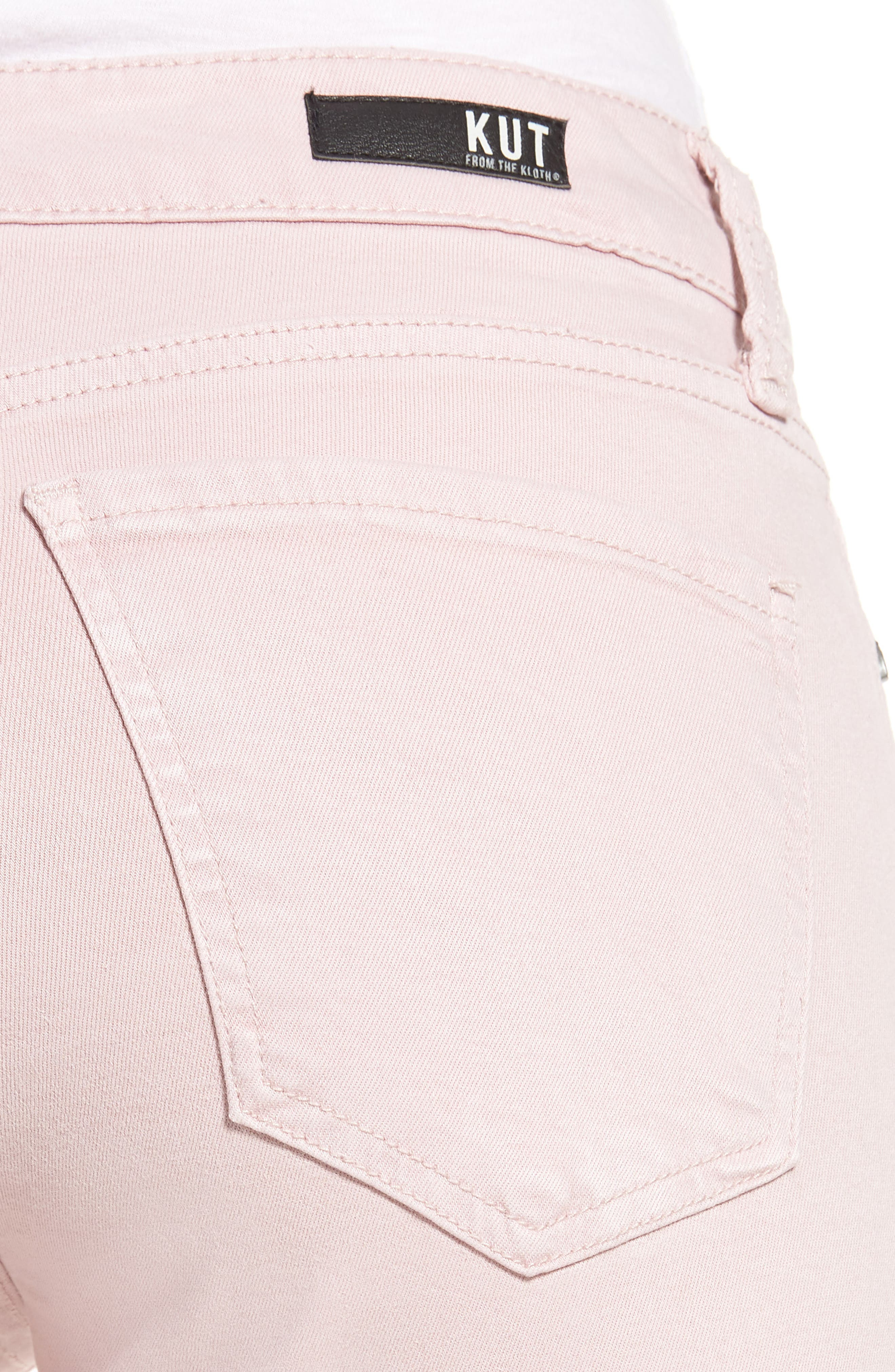 KUT from the Kloth Amy Crop Skinny Jeans,                             Alternate thumbnail 4, color,                             Rose