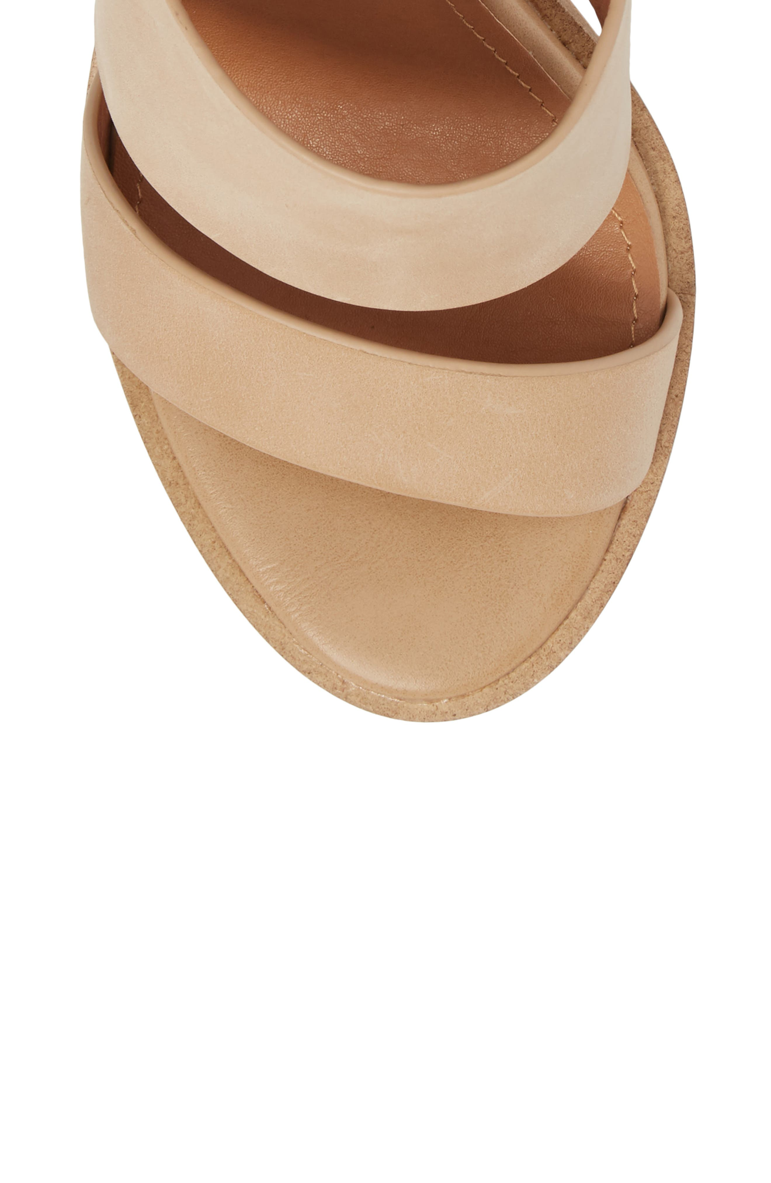 Admiral Ankle Wrap Sandal,                             Alternate thumbnail 5, color,                             Natural Leather
