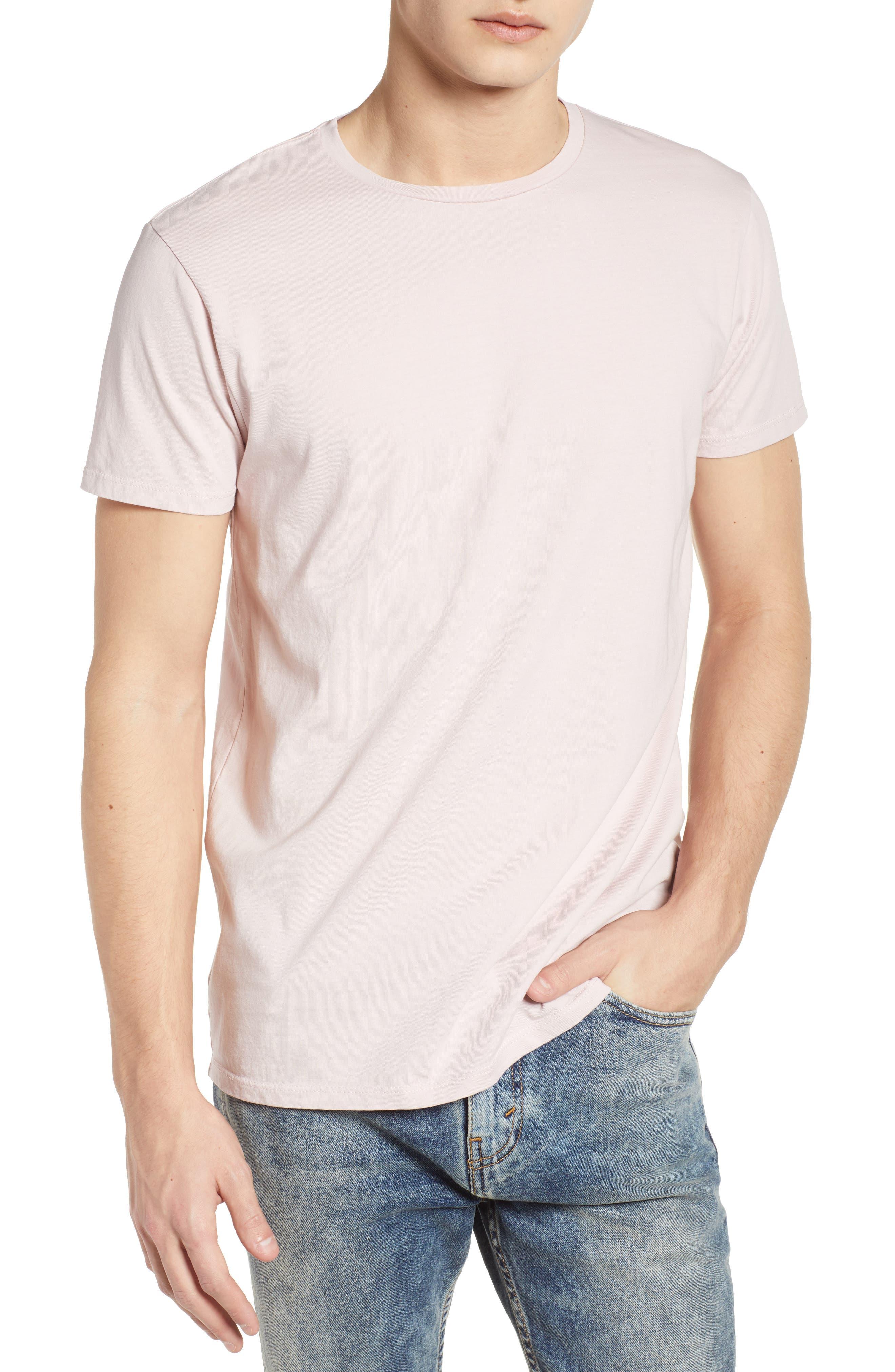 Classic Crewneck T-Shirt,                             Main thumbnail 1, color,                             Pink Ash