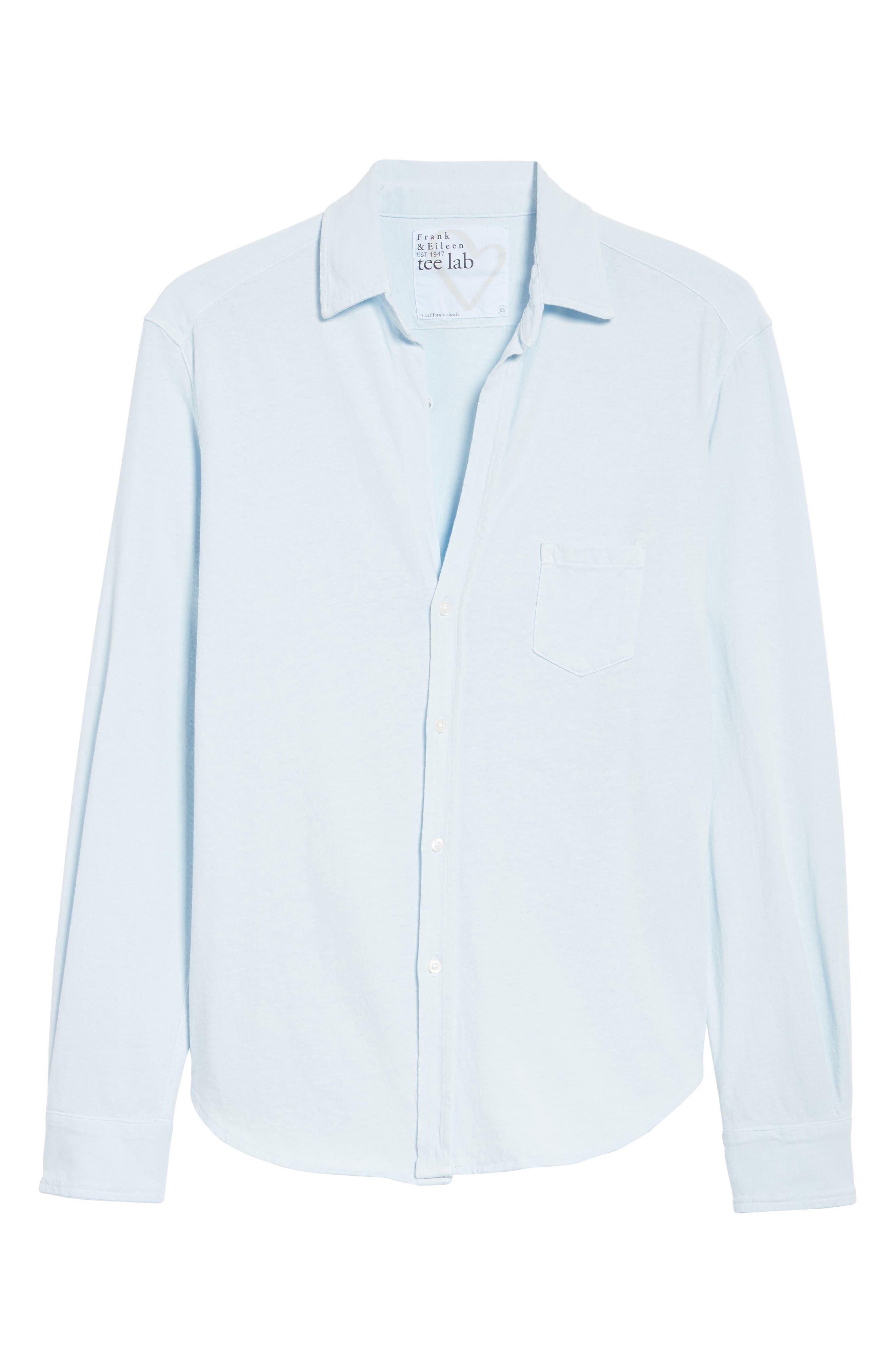 Knit Button Front Shirt,                             Alternate thumbnail 7, color,                             Mali-Blue