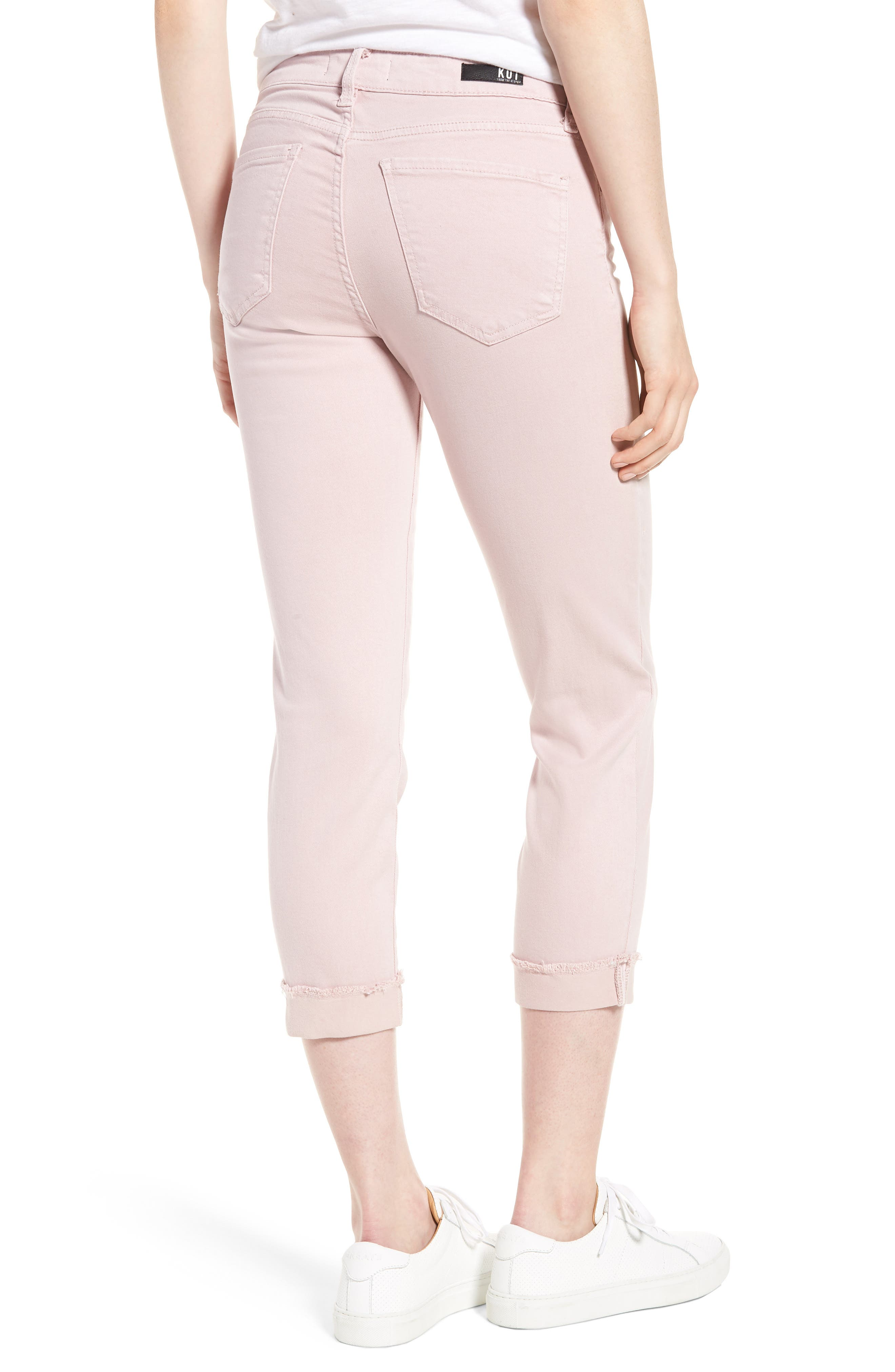 KUT from the Kloth Amy Crop Skinny Jeans,                             Alternate thumbnail 2, color,                             Rose