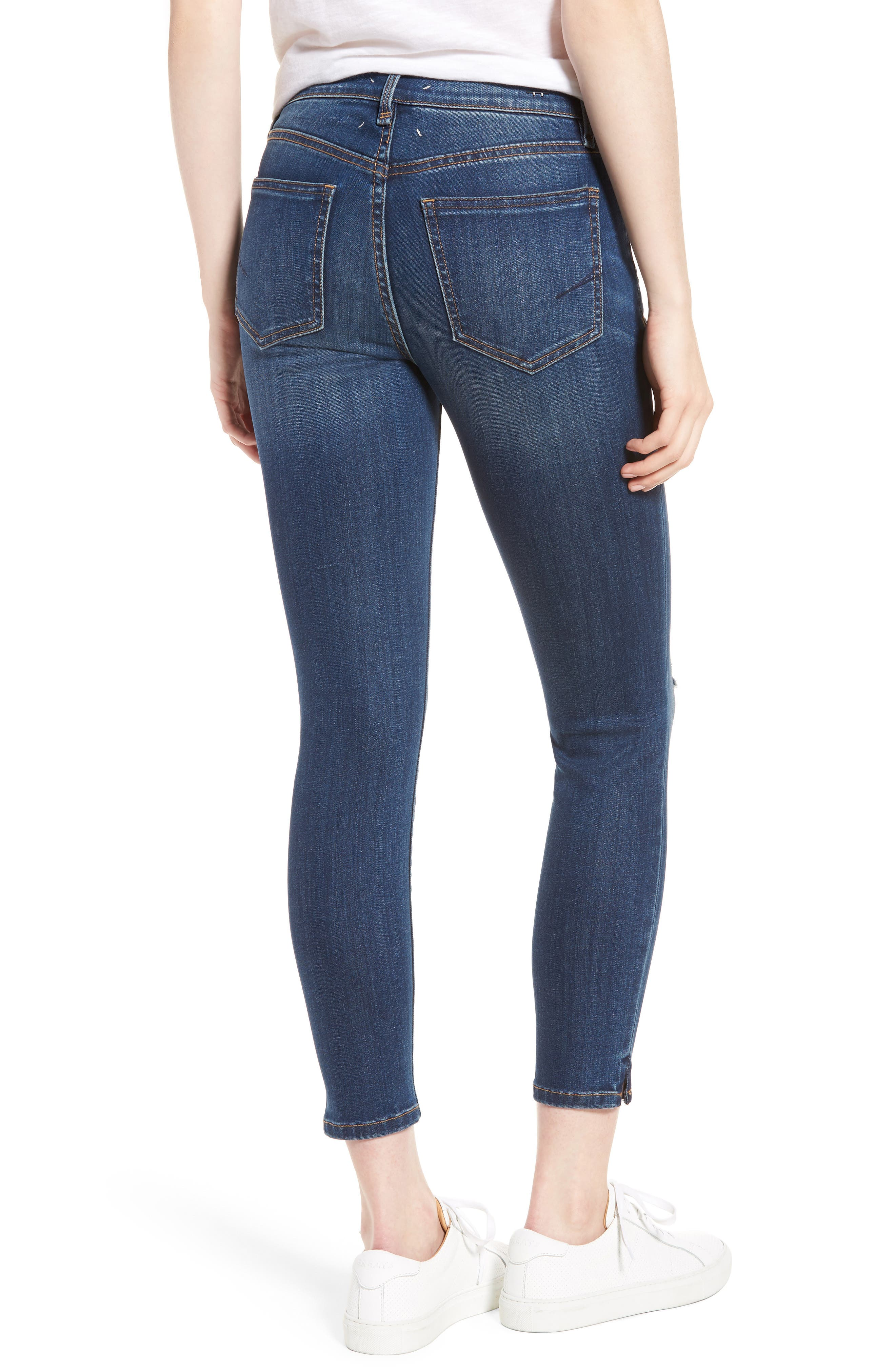Marina Ankle Skinny Jeans,                             Alternate thumbnail 2, color,                             Basswood