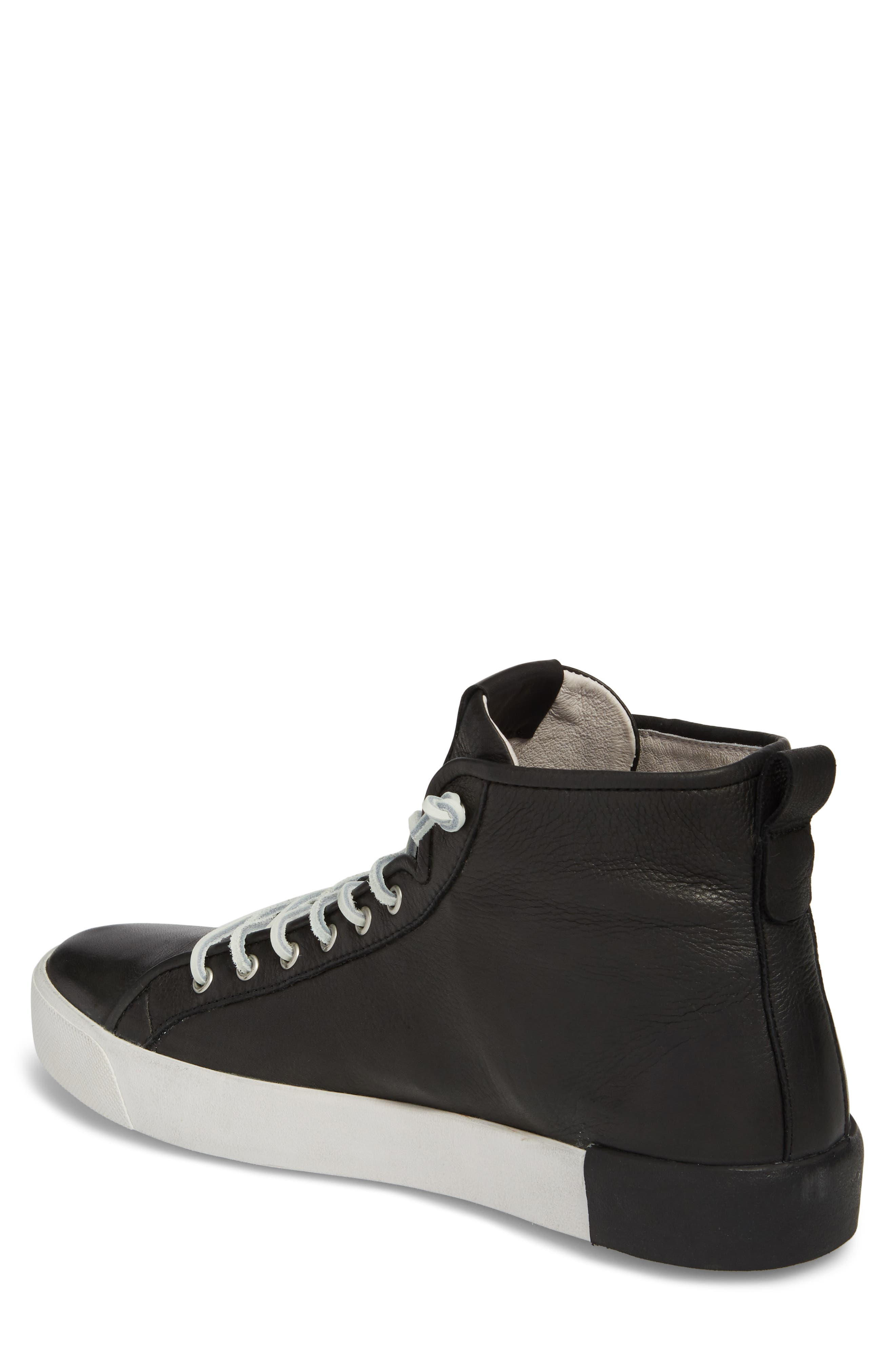PM43 Slip-On High Top Sneaker,                             Alternate thumbnail 2, color,                             Black Leather