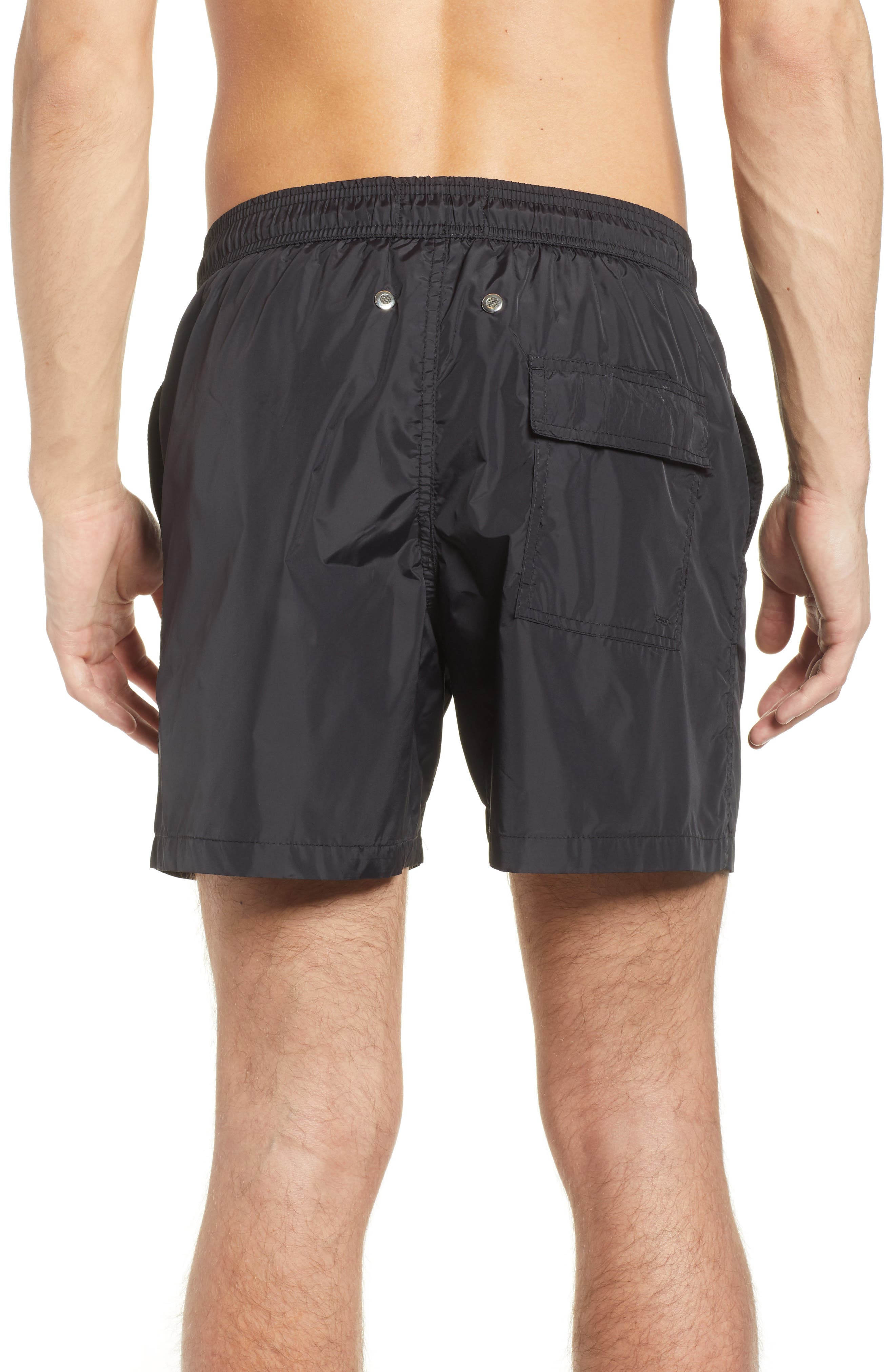 Swim Trunks,                             Alternate thumbnail 2, color,                             Black /Turquoise