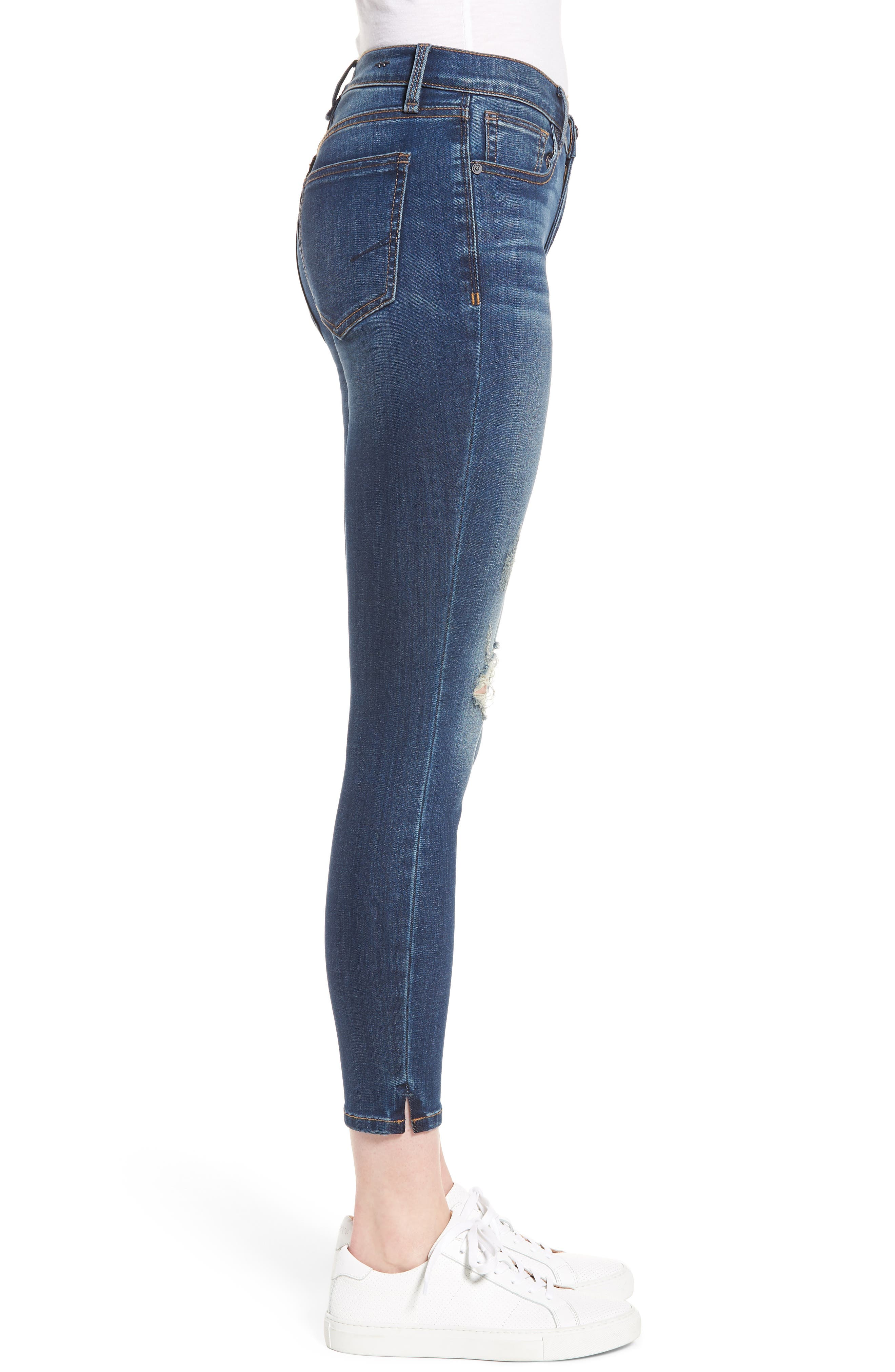 Marina Ankle Skinny Jeans,                             Alternate thumbnail 3, color,                             Basswood