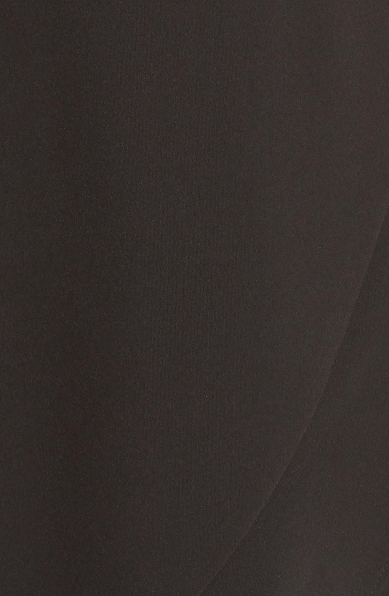 Cold Shoulder Ruffle Sheath Dress,                             Alternate thumbnail 6, color,                             Black