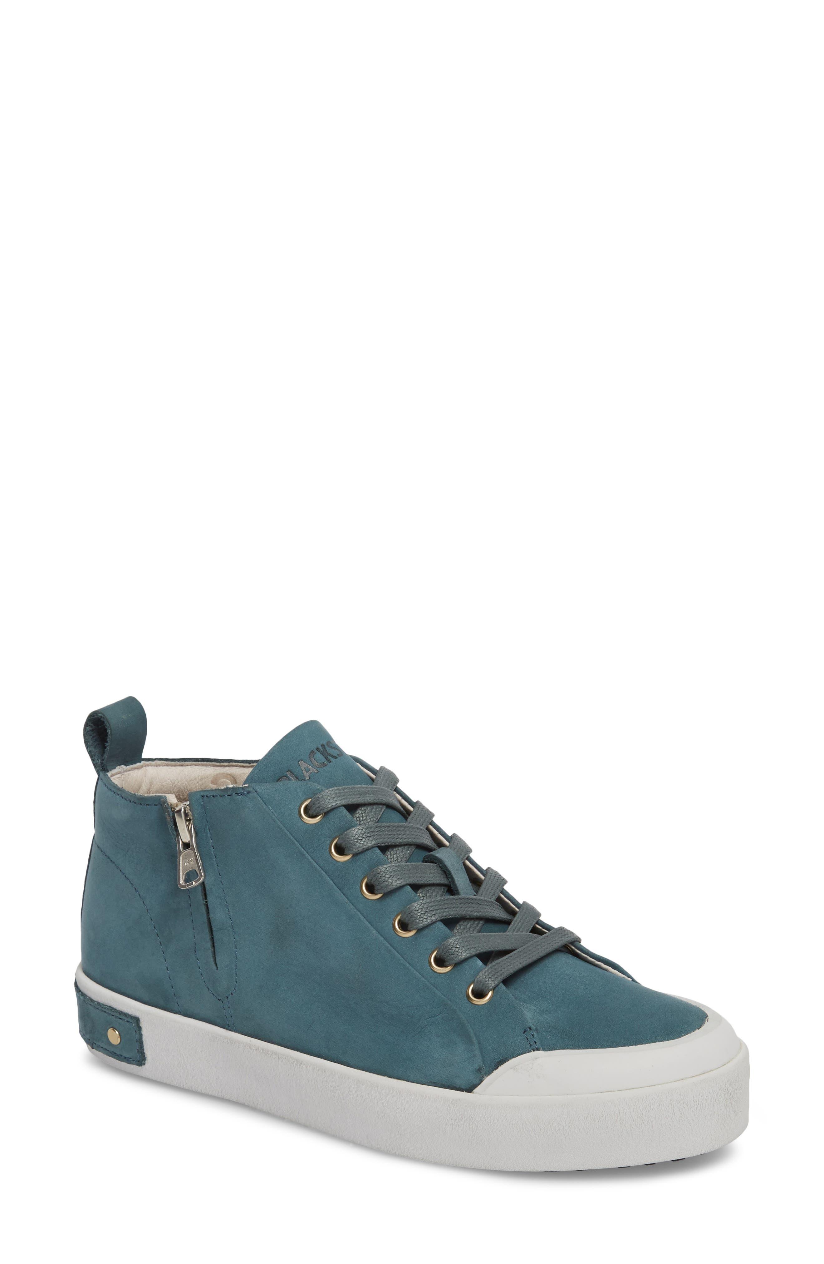 PL83 Mid Rise Sneaker,                             Main thumbnail 1, color,                             Mallard Blue Leather