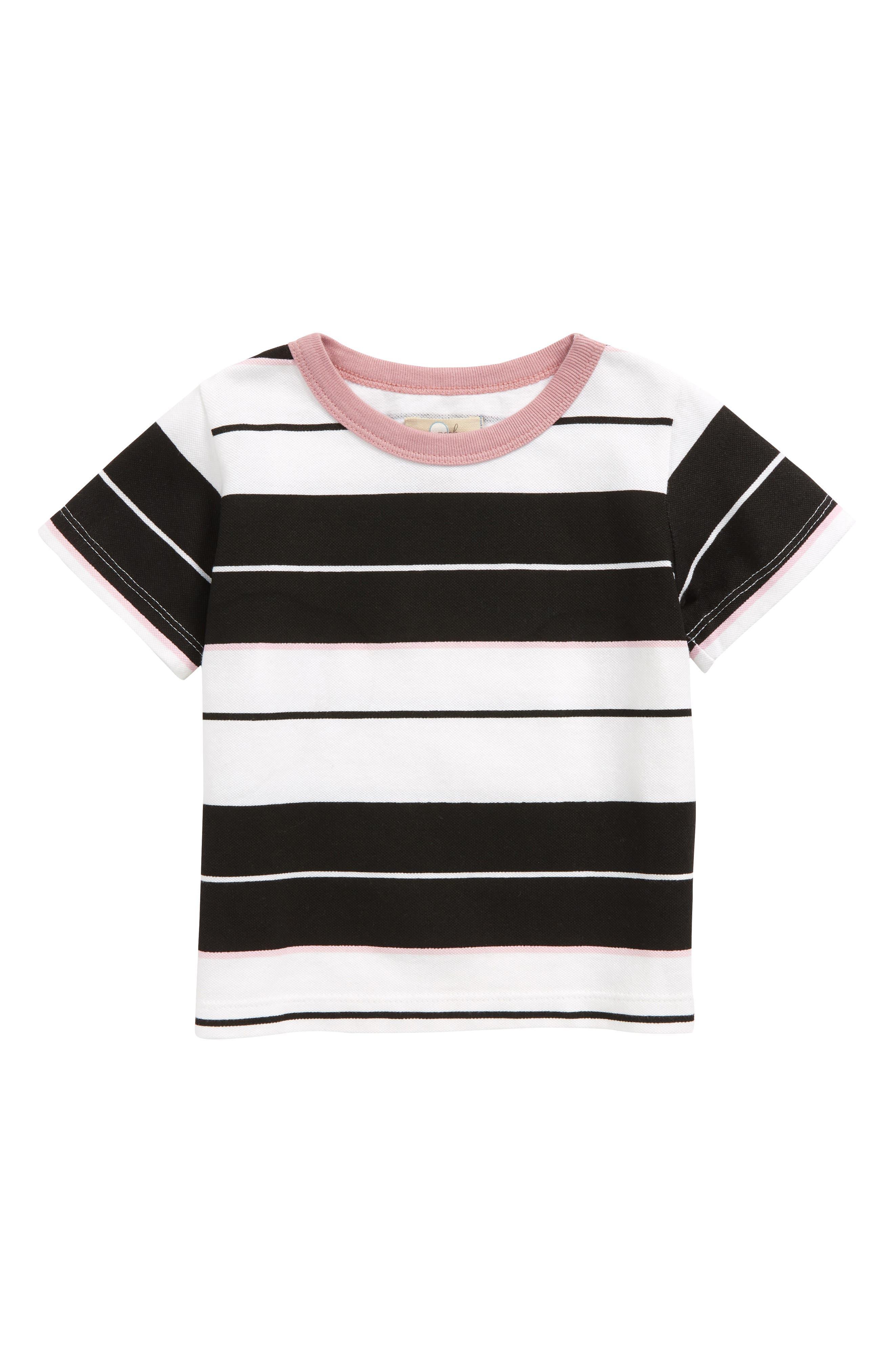 Peek Stripe Piqué Tee (Baby)