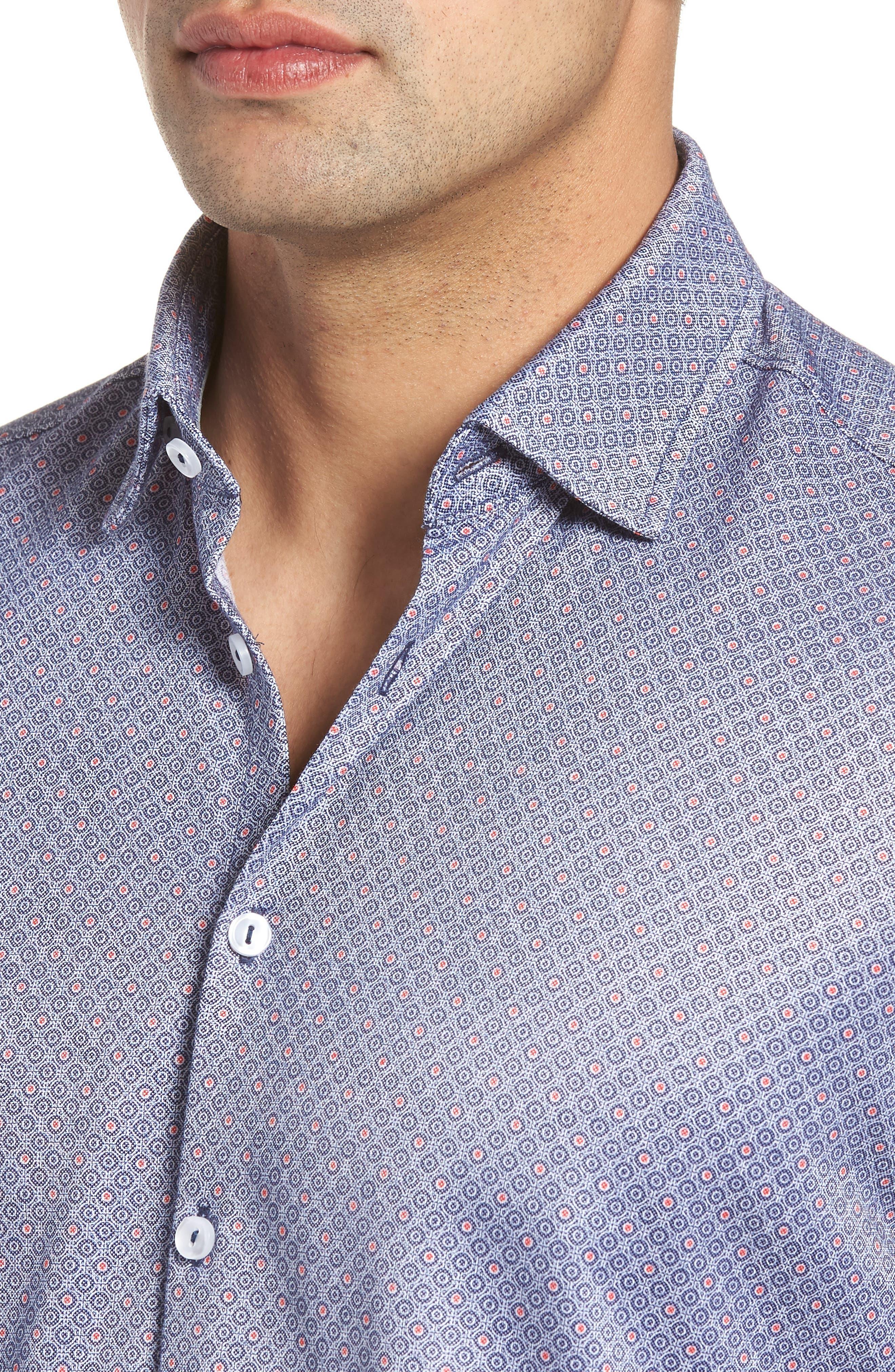 Alternate Image 4  - Stone Rose Contemporary Fit Geo Tech Sport Shirt