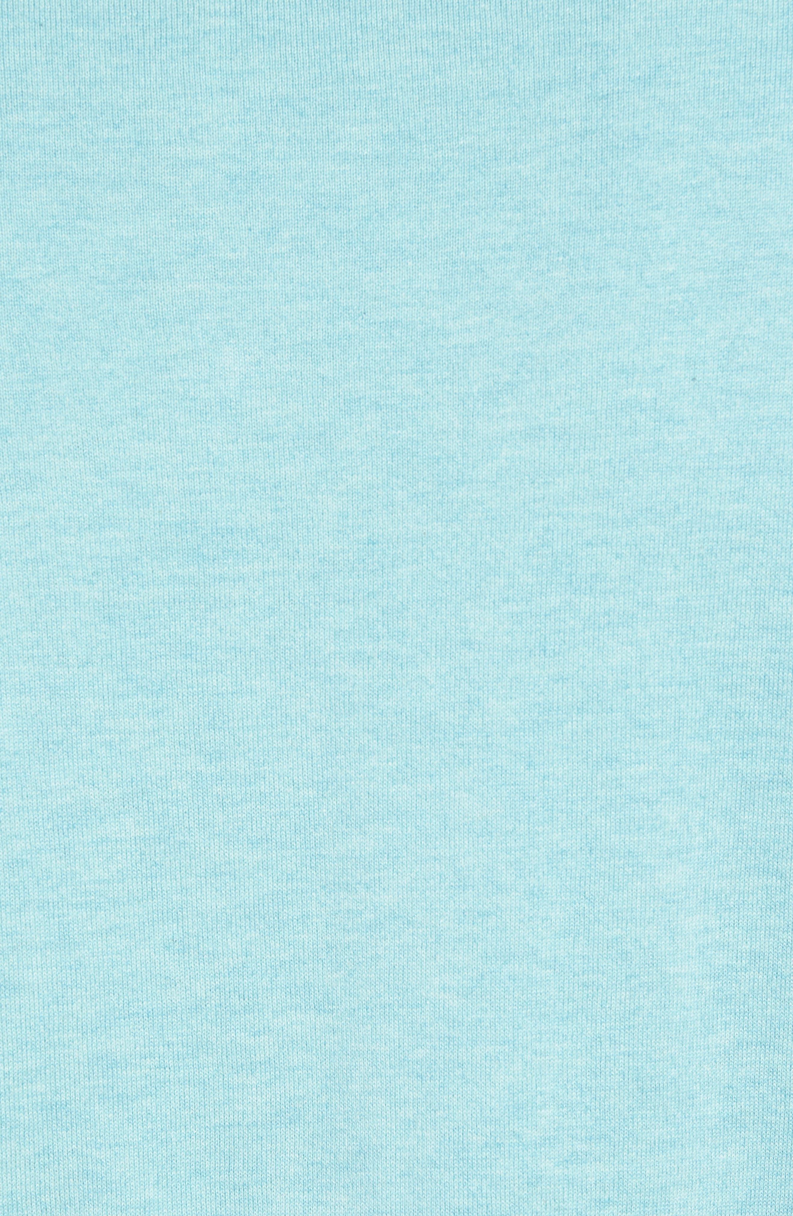 Cotton & Silk Quarter Zip Pullover,                             Alternate thumbnail 5, color,                             Seafoam