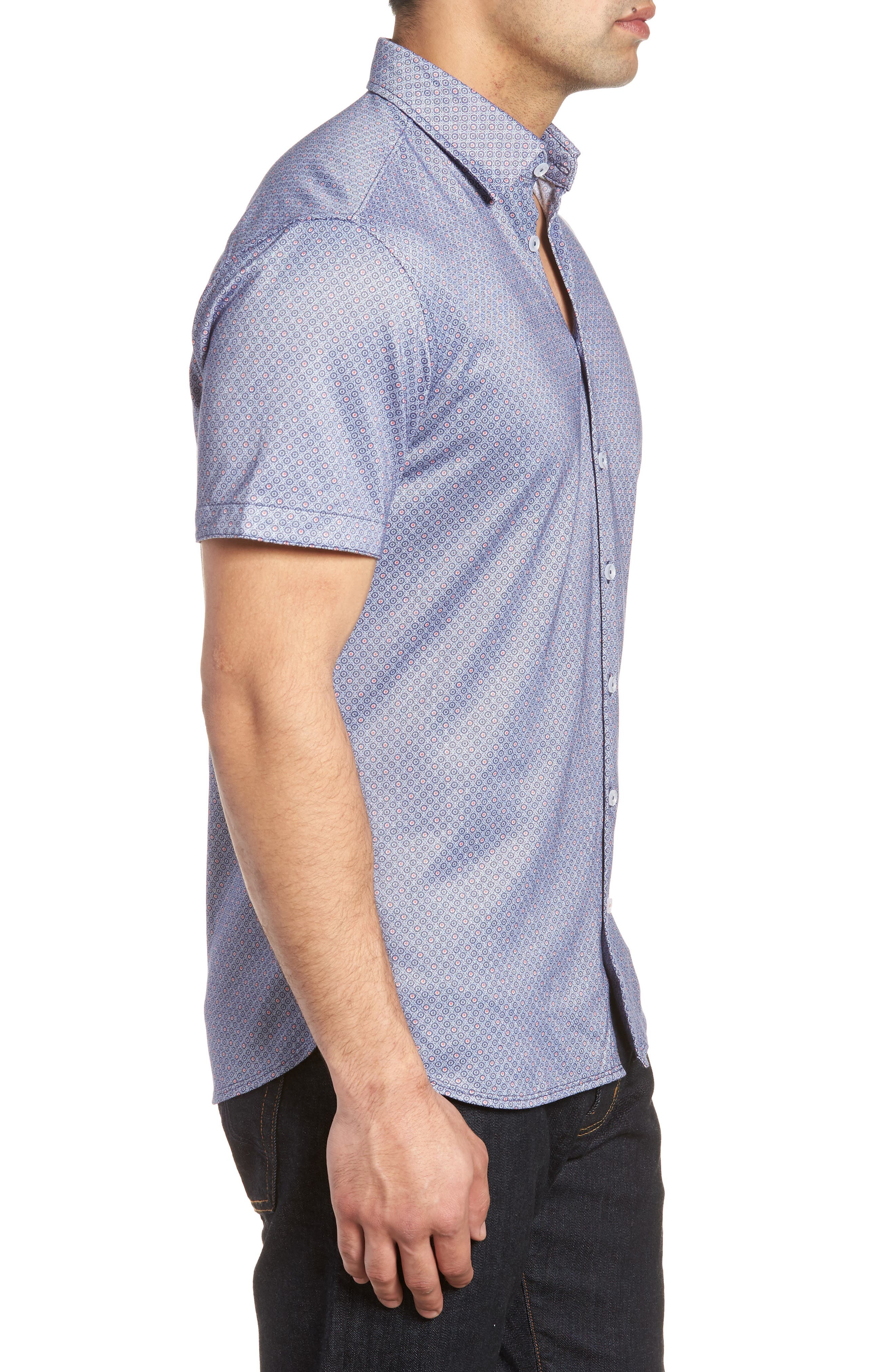 Alternate Image 3  - Stone Rose Contemporary Fit Geo Tech Sport Shirt