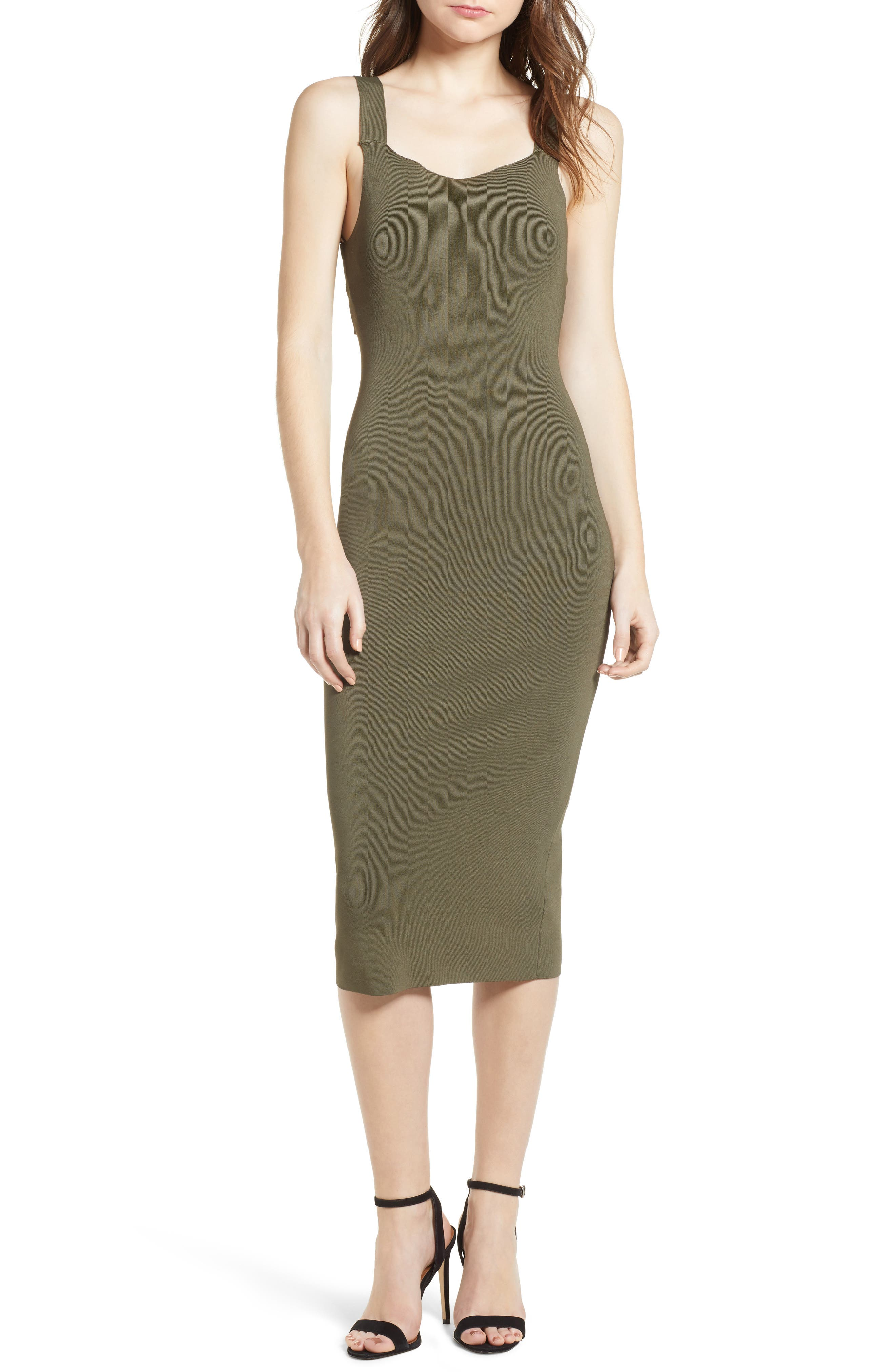 Strappy Back Sweater Dress,                         Main,                         color, Olive Sarma