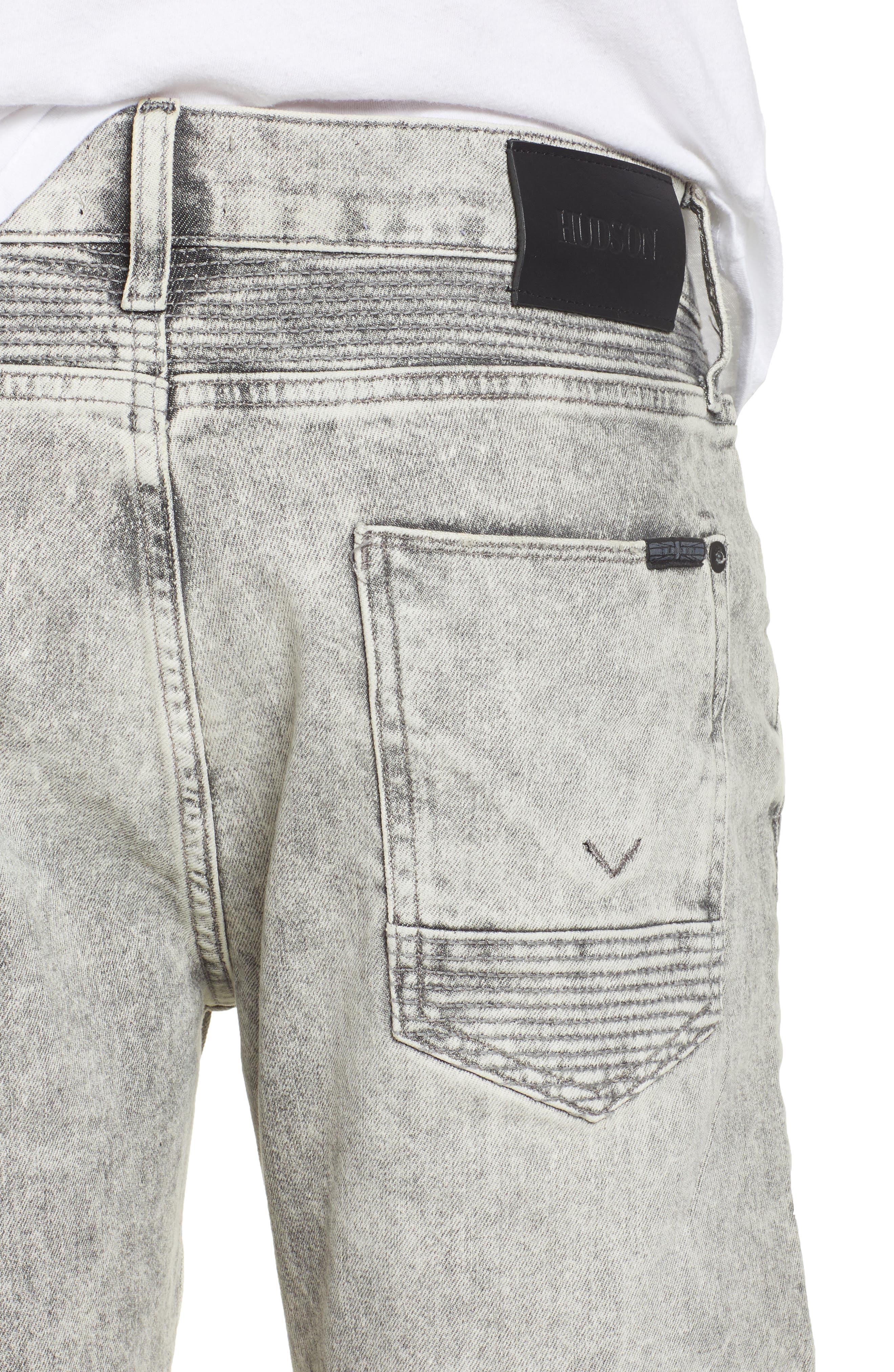 Hudson Blinder Biker Skinny Fit Jeans,                             Alternate thumbnail 4, color,                             Carbon Fiber