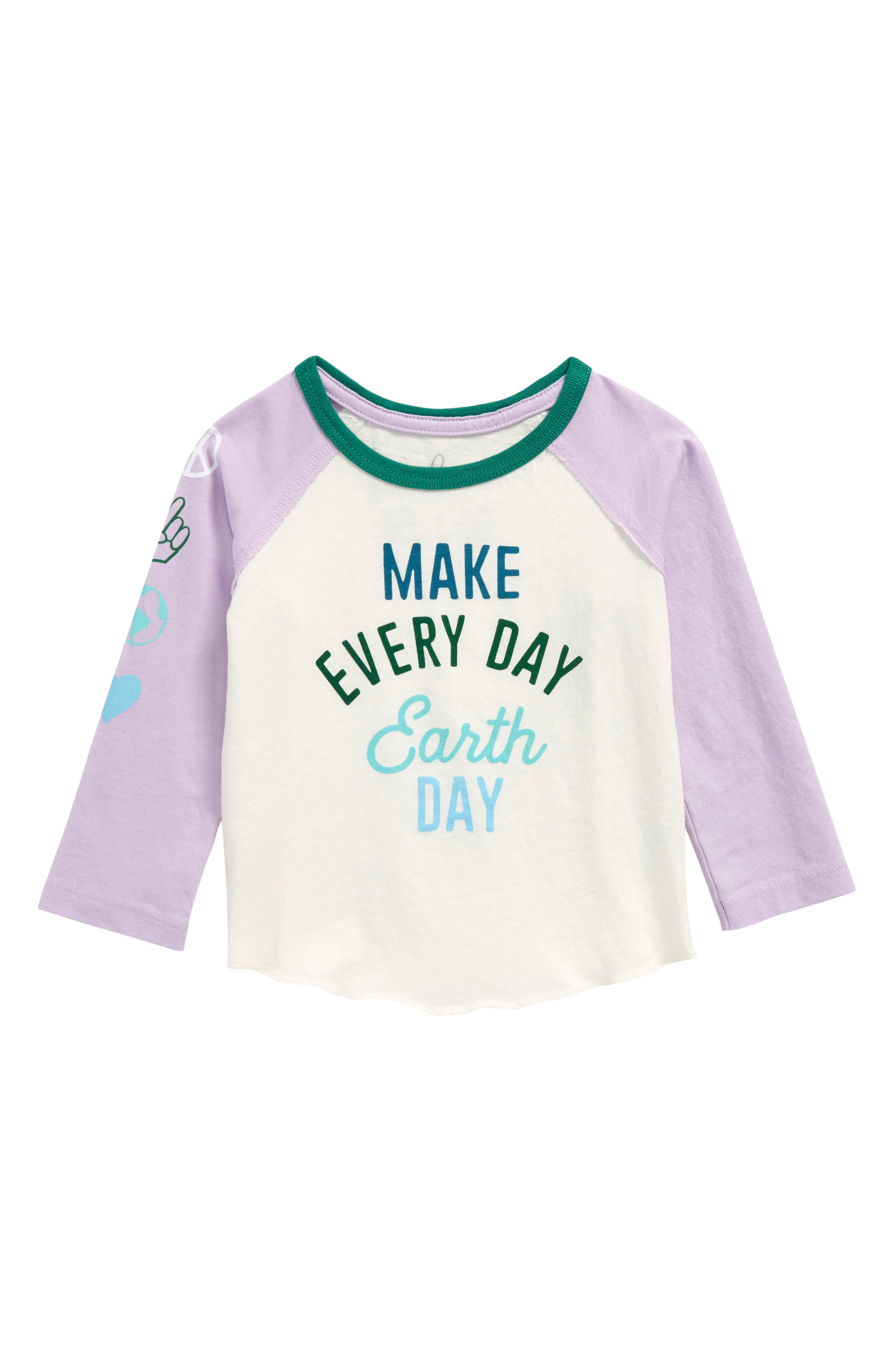 Earth Day Graphic Tee,                         Main,                         color, Lavender
