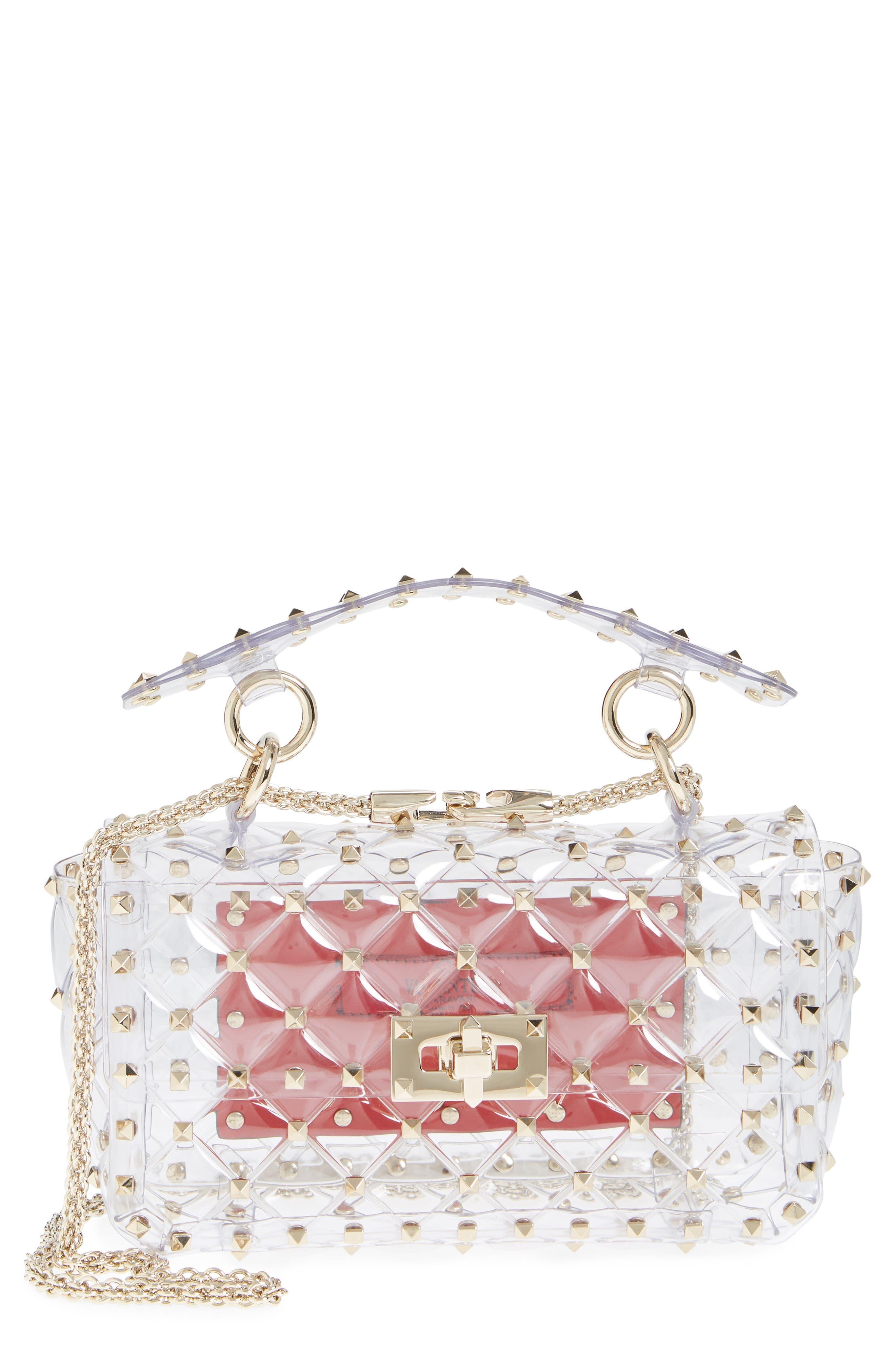 VALENTINO GARAVANI Rockstud Transparent Small Shoulder Bag