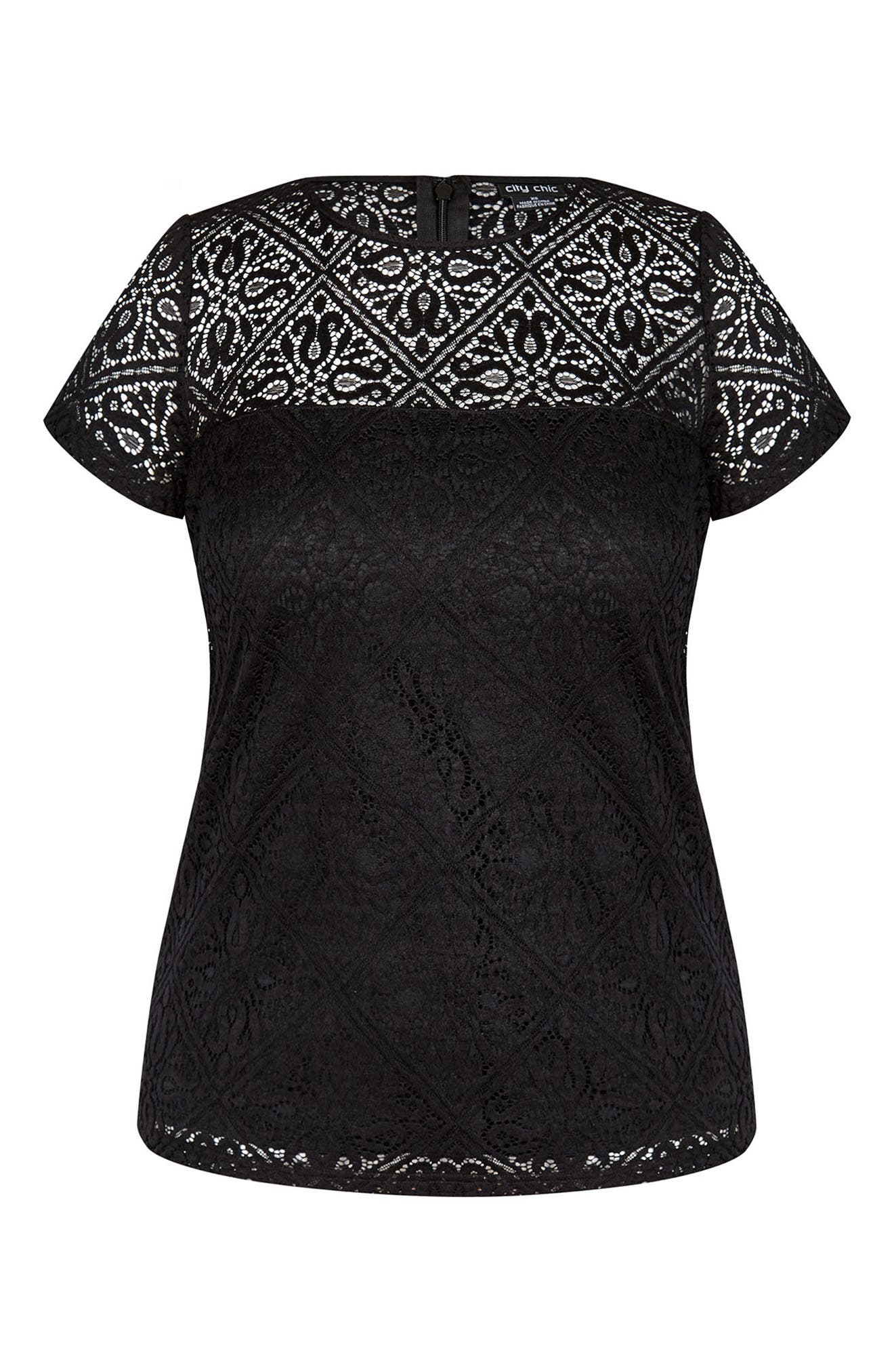 City Chic Magical Feeling Top (Plus Size)