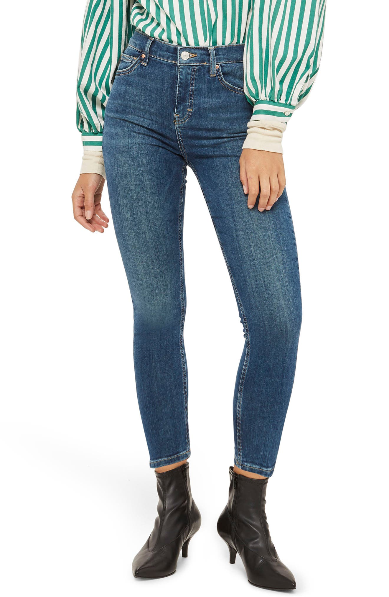 Jamie Petite Mid Denim Jeans,                         Main,                         color, Mid Denim