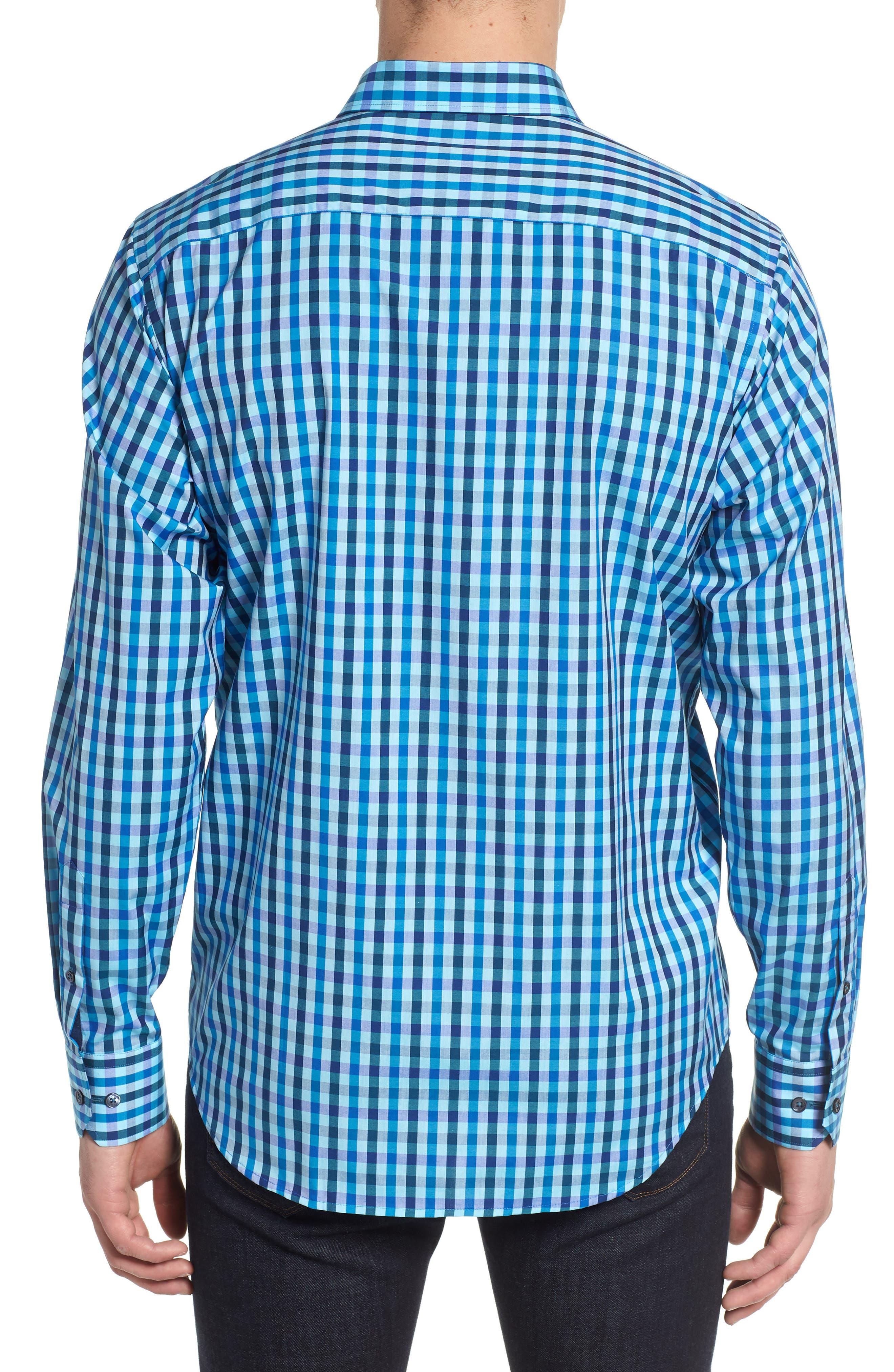 Classic Fit Woven Sport Shirt,                             Alternate thumbnail 2, color,                             Turquoise
