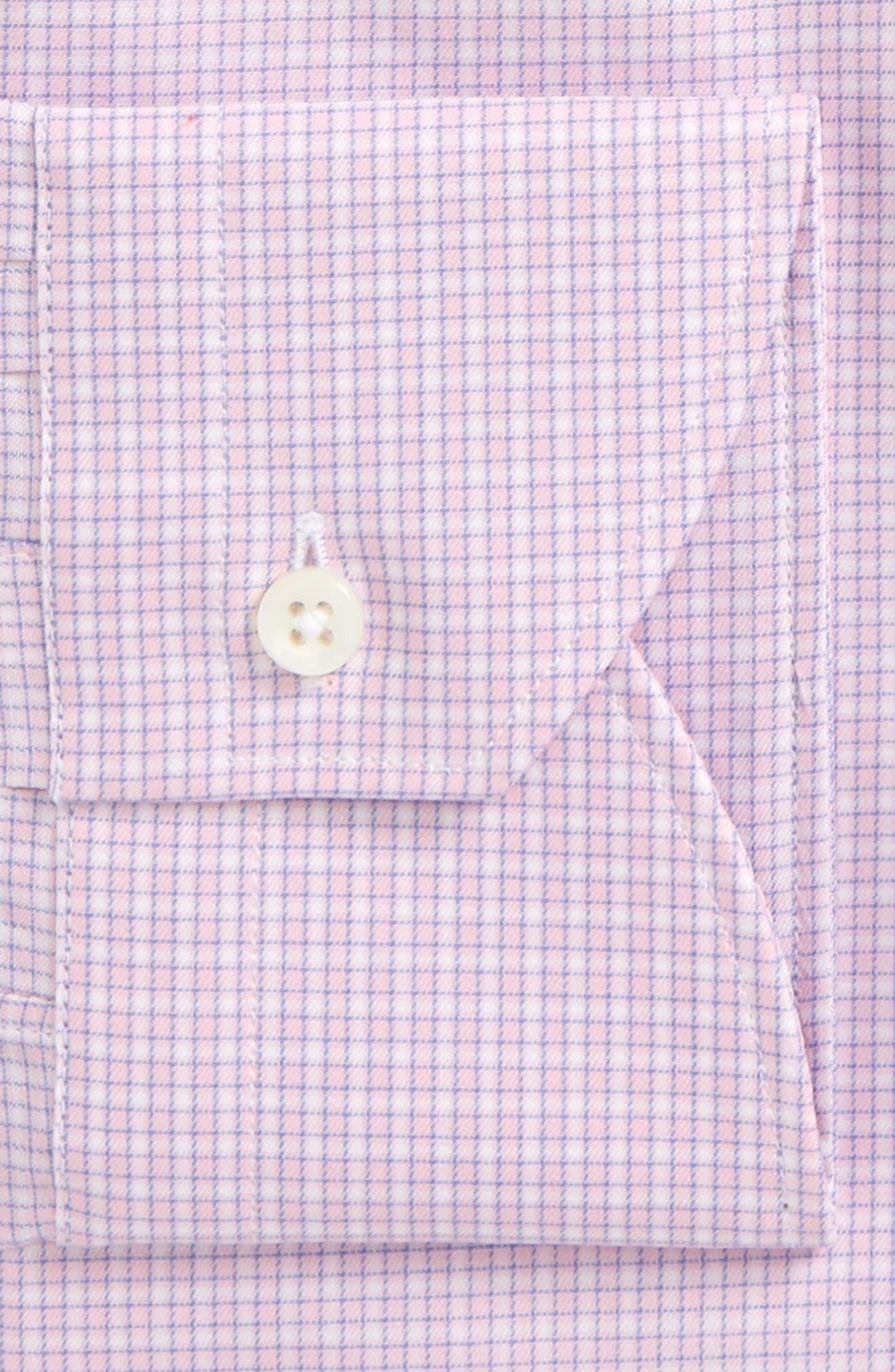 Regular Fit Check Dress Shirt,                             Alternate thumbnail 2, color,                             Pink