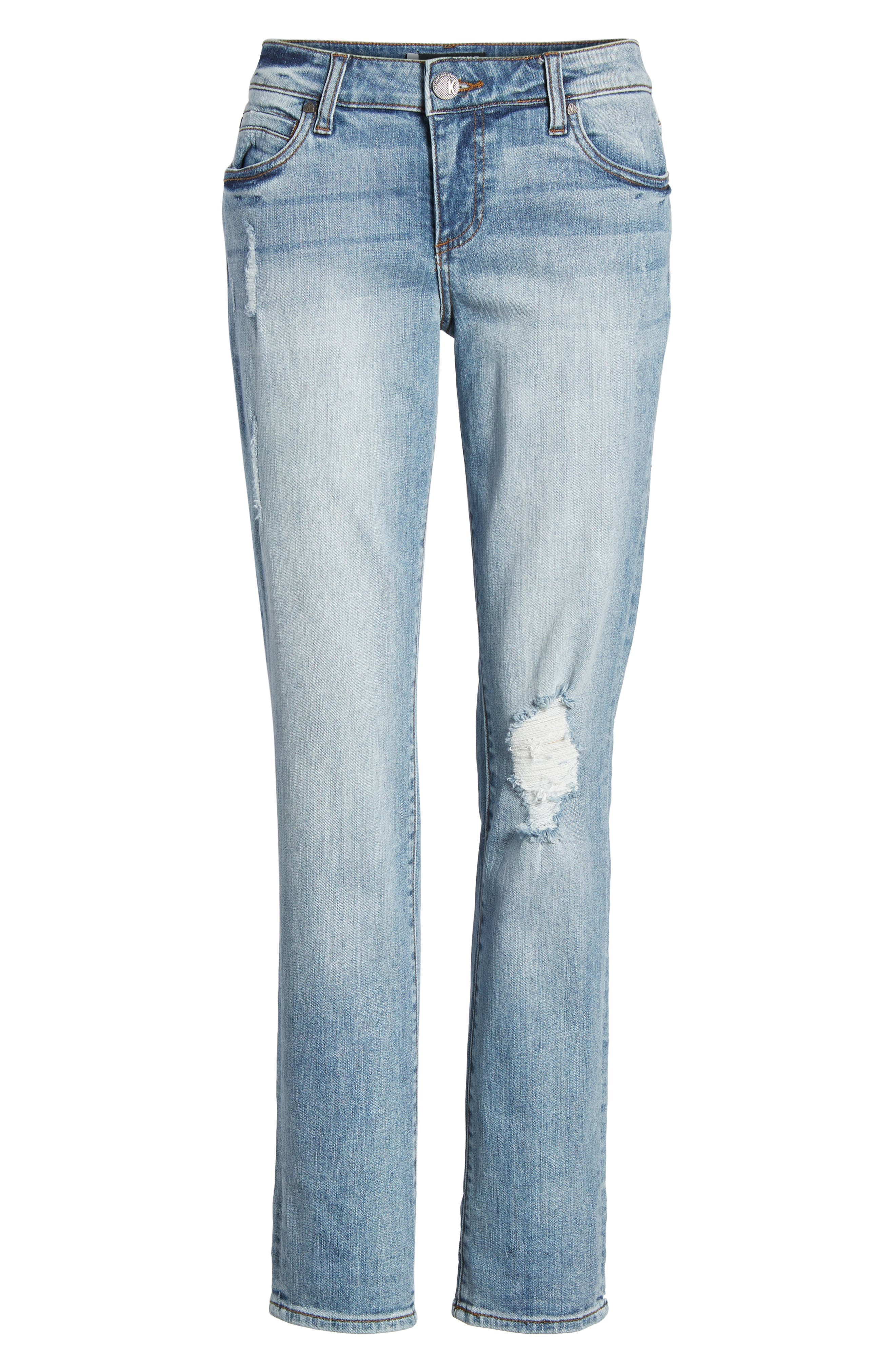 Alternate Image 6  - KUT from the Kloth Catherine Distressed Boyfriend Jeans (Announce)