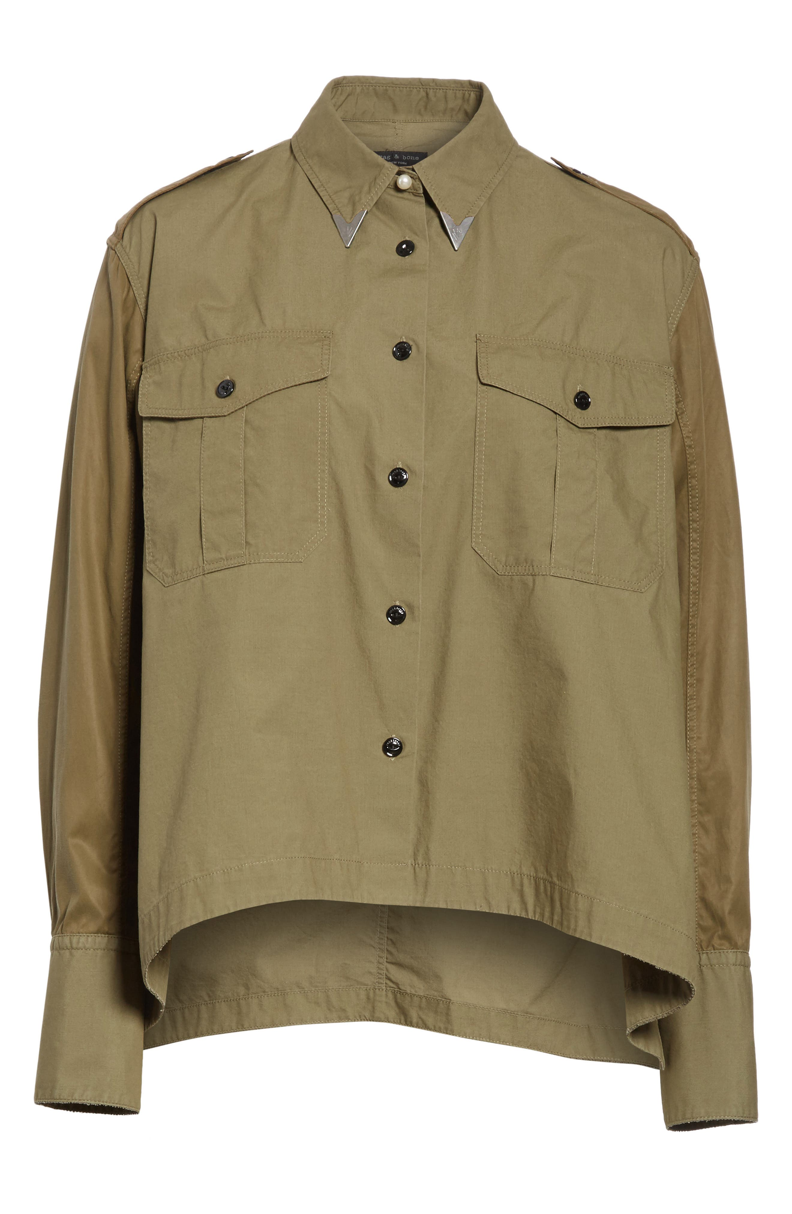 Pearson Shirt,                             Alternate thumbnail 6, color,                             Dusty Olive