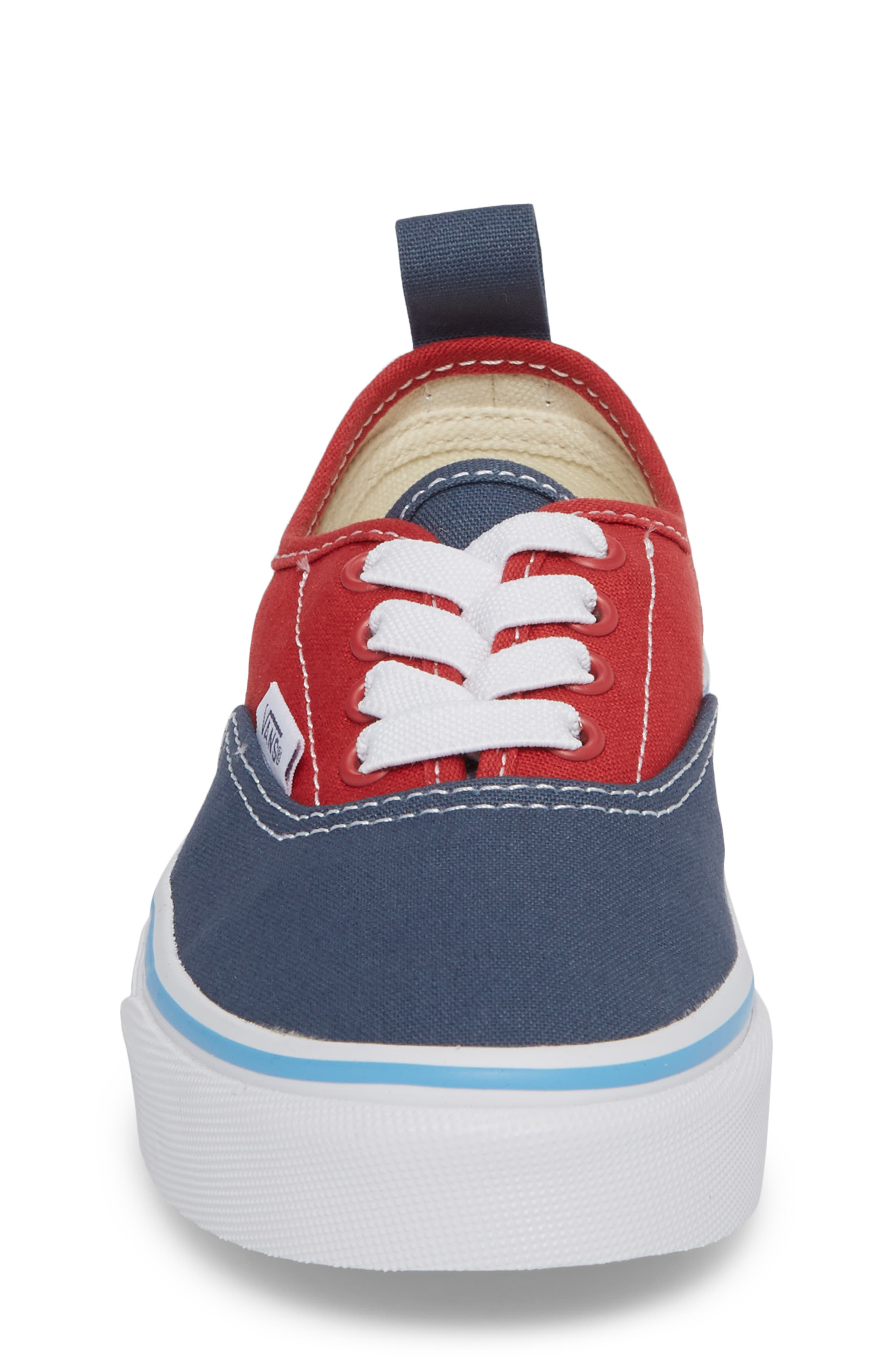 Authentic Low Top Sneaker,                             Alternate thumbnail 4, color,                             Indigo/ Blue/ Red Tri Pop