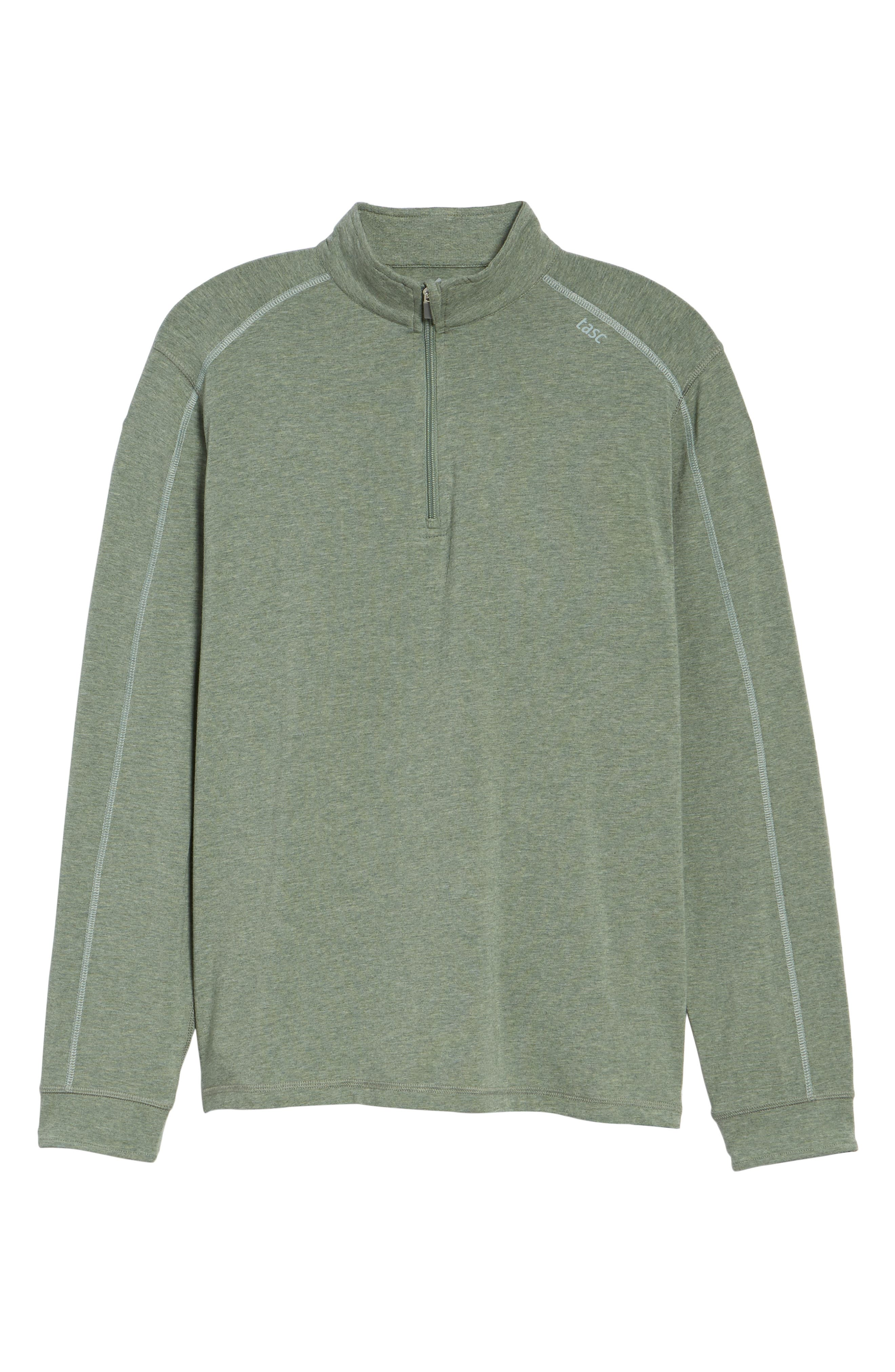Carrollton Quarter Zip Sweatshirt,                             Alternate thumbnail 6, color,                             Kelp Heather