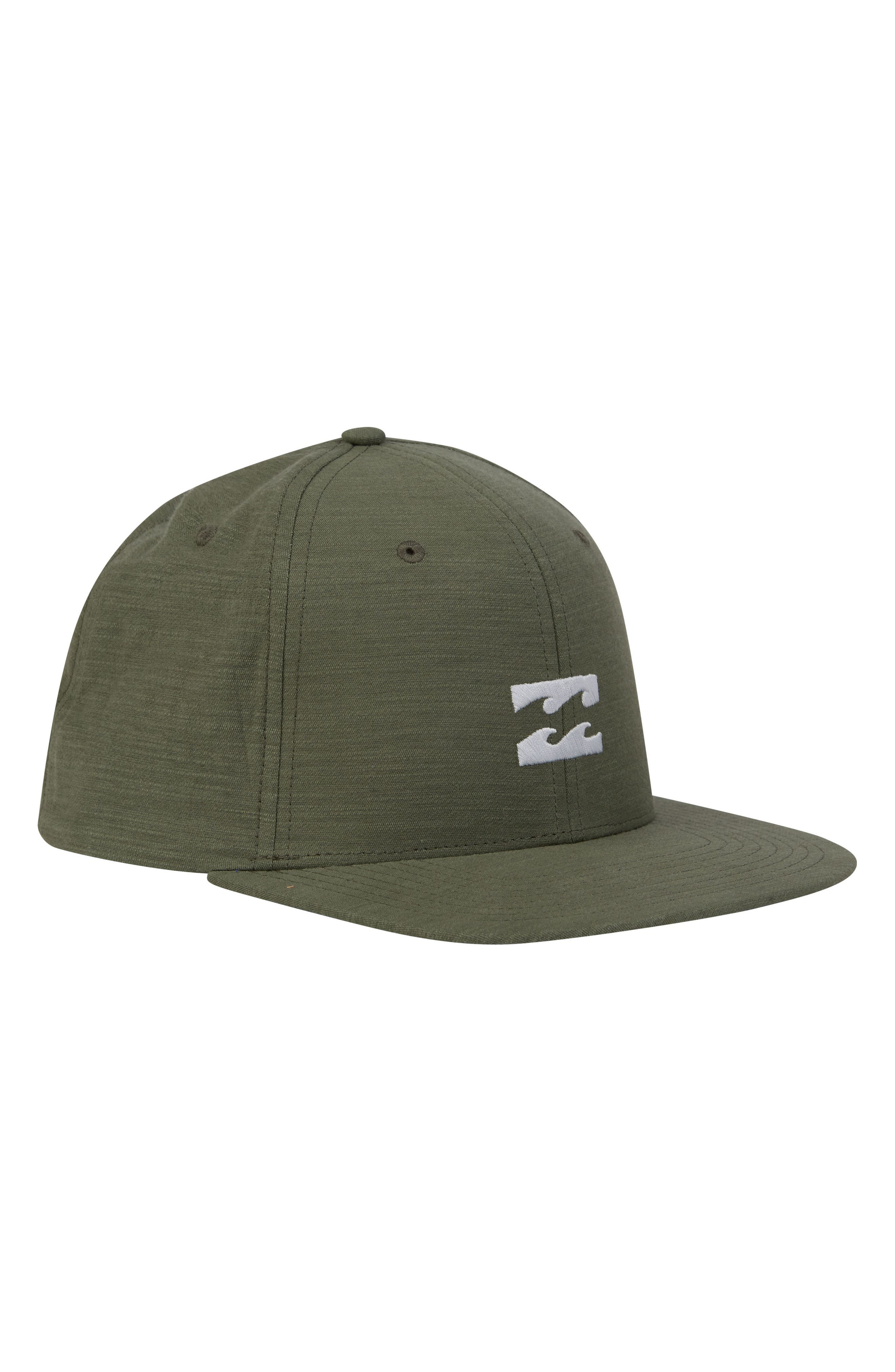 All Day Snapback Cap,                         Main,                         color, Green Heather