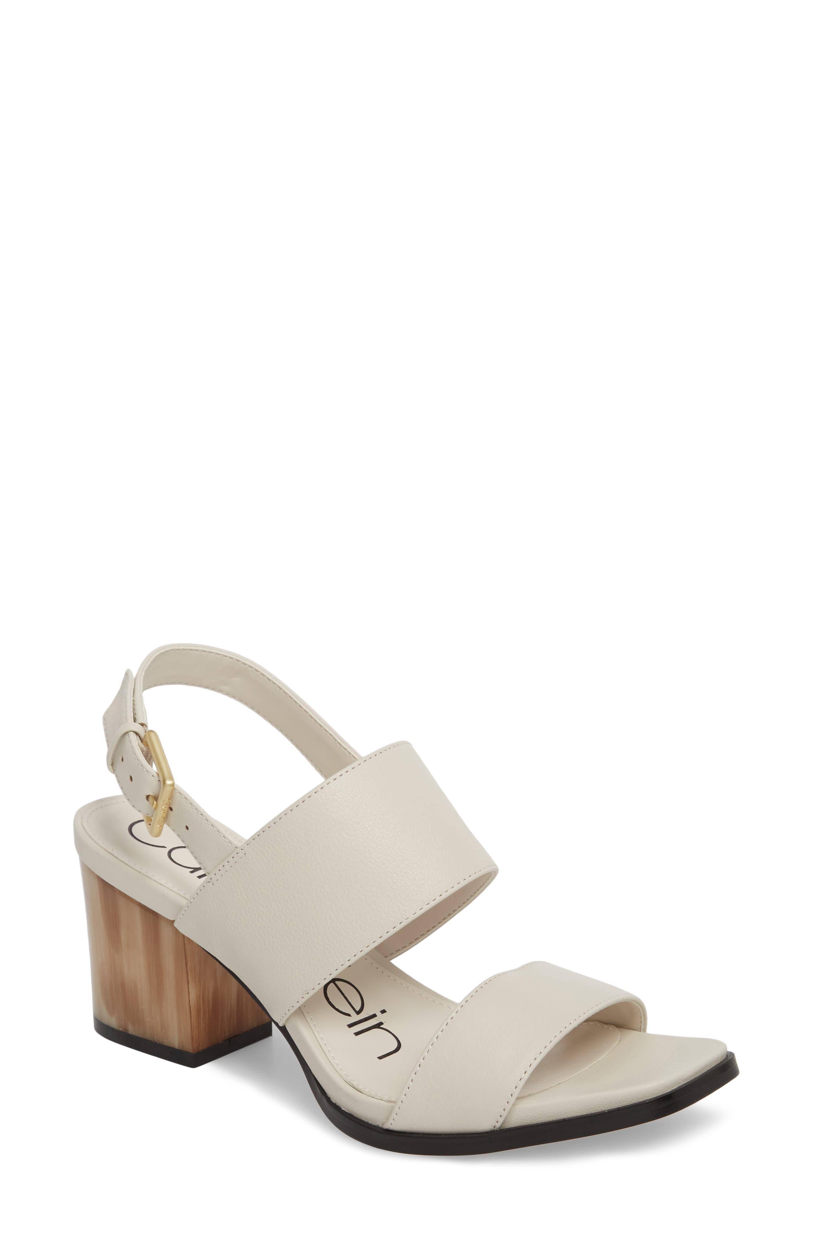 Calvin Klein Rosemary Block Heel Sandal (Women)