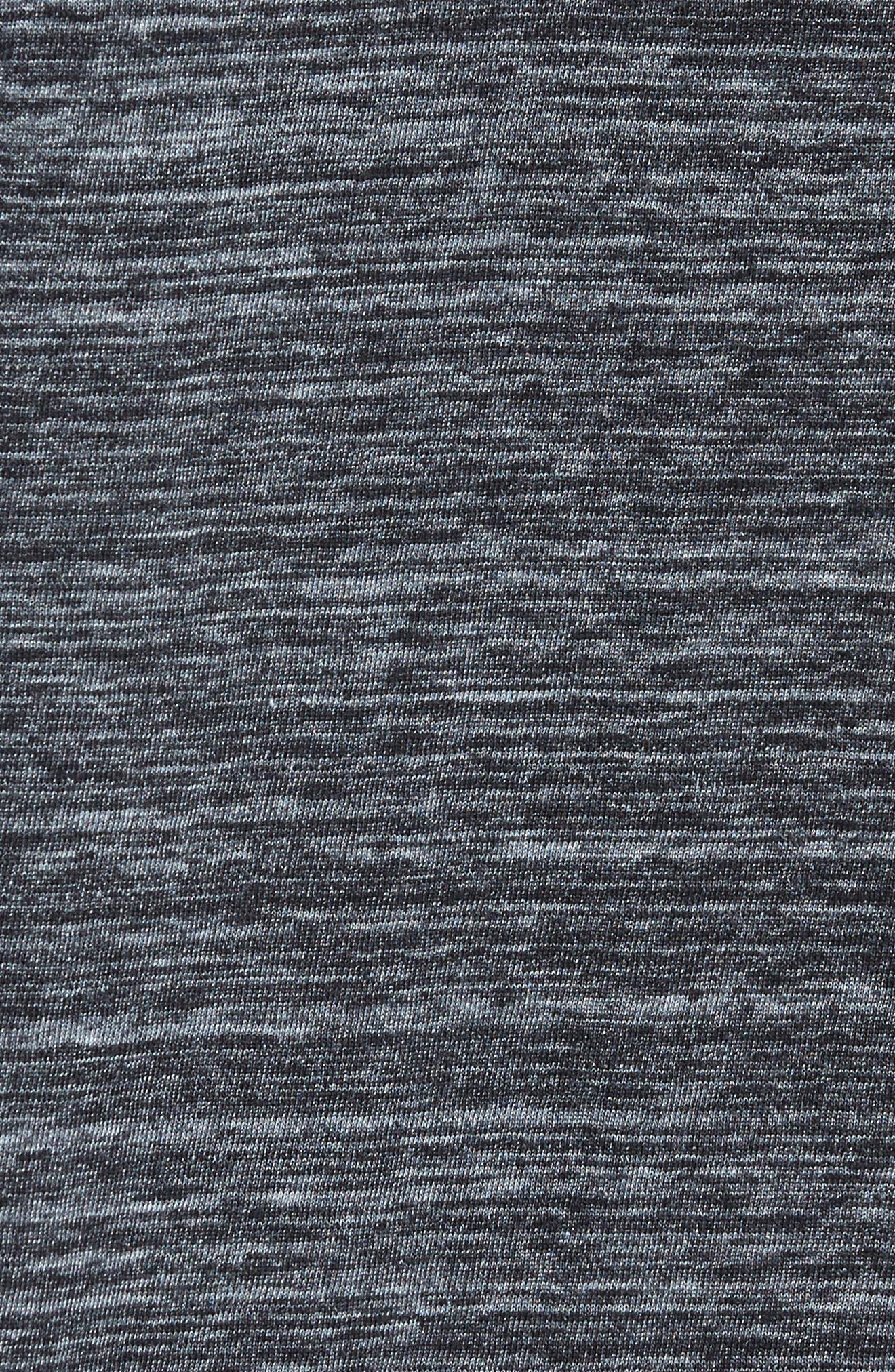 New Classic Regular T-Shirt,                             Alternate thumbnail 5, color,                             Dark Black Heather