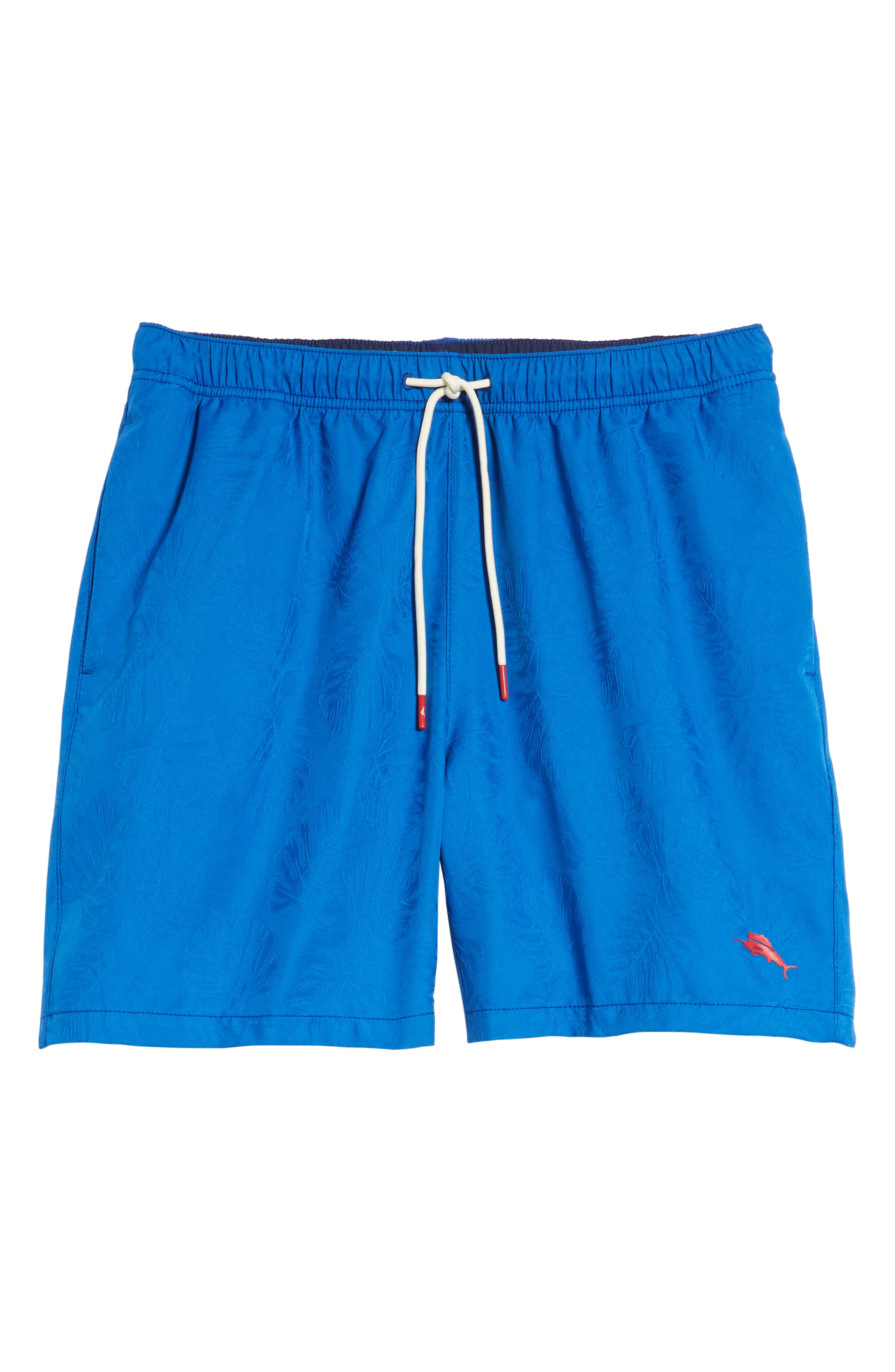 Naples Midnight Monstera Swim Trunks,                             Alternate thumbnail 6, color,                             Cobalt Sea