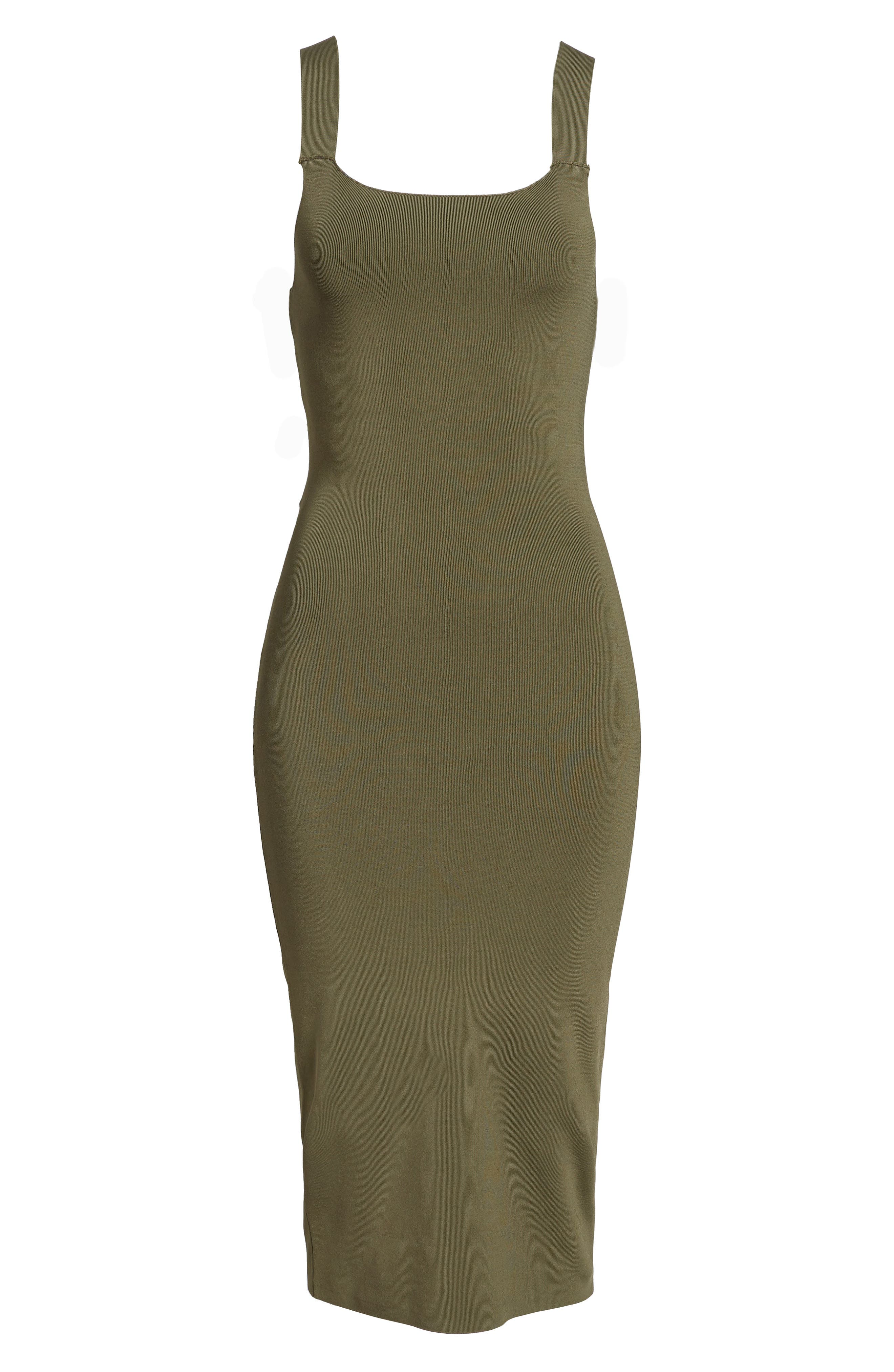 Strappy Back Sweater Dress,                             Alternate thumbnail 6, color,                             Olive Sarma