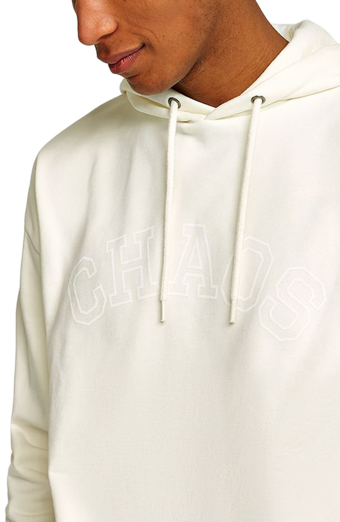 Oversize Hoodie,                             Alternate thumbnail 3, color,                             Ivory