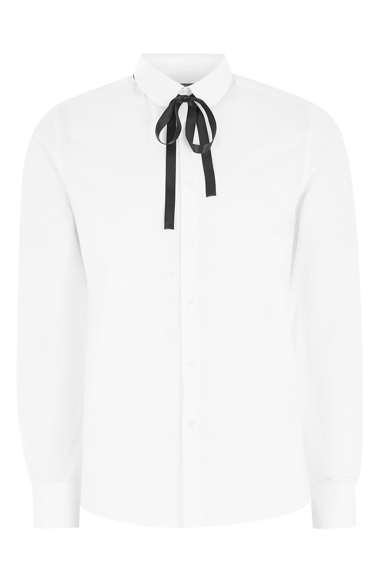 Penny Collar Shirt,                             Alternate thumbnail 4, color,                             White Multi