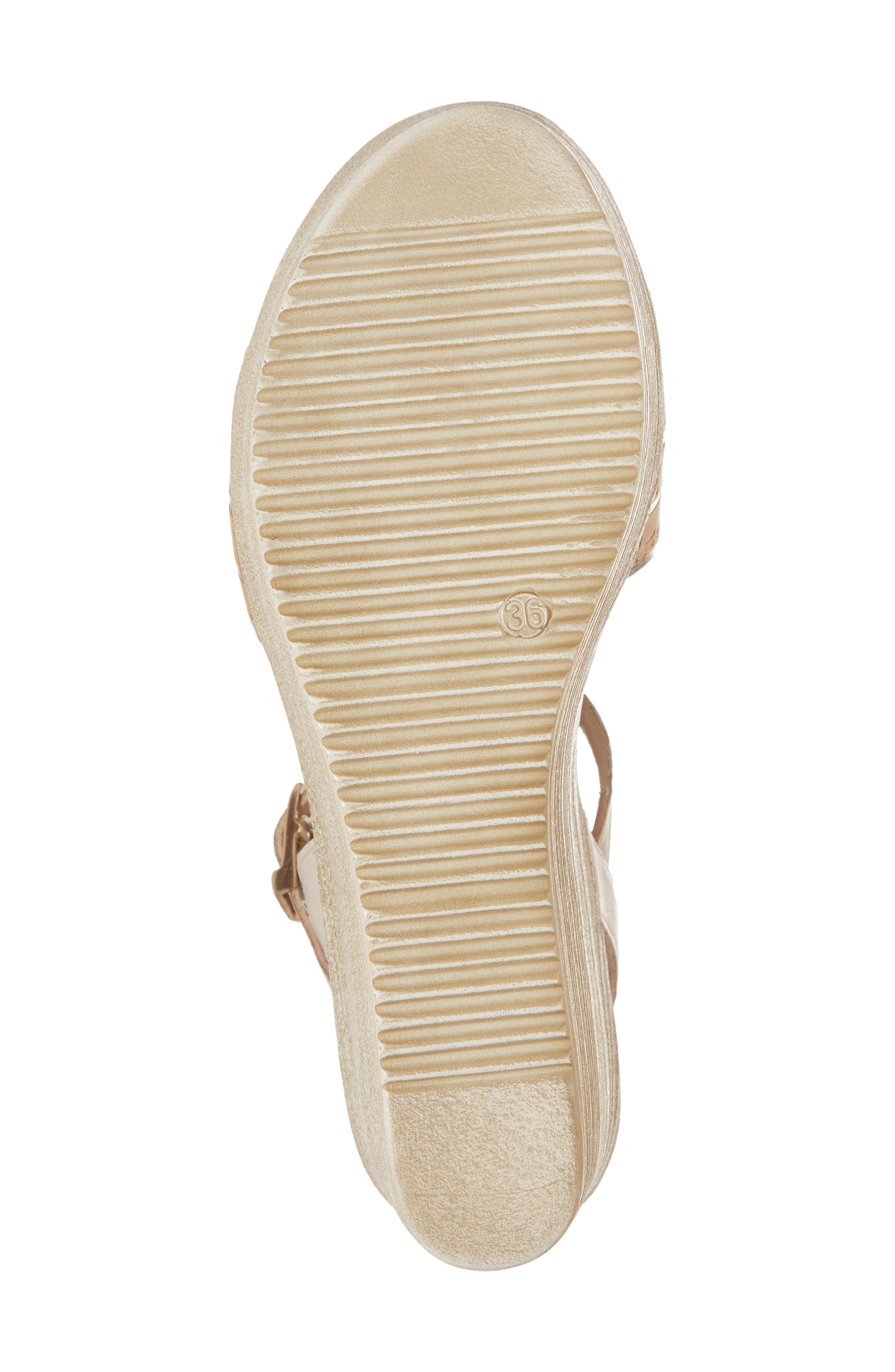 Jaida Platform Wedge Sandal,                             Alternate thumbnail 6, color,                             Cork/ Gold