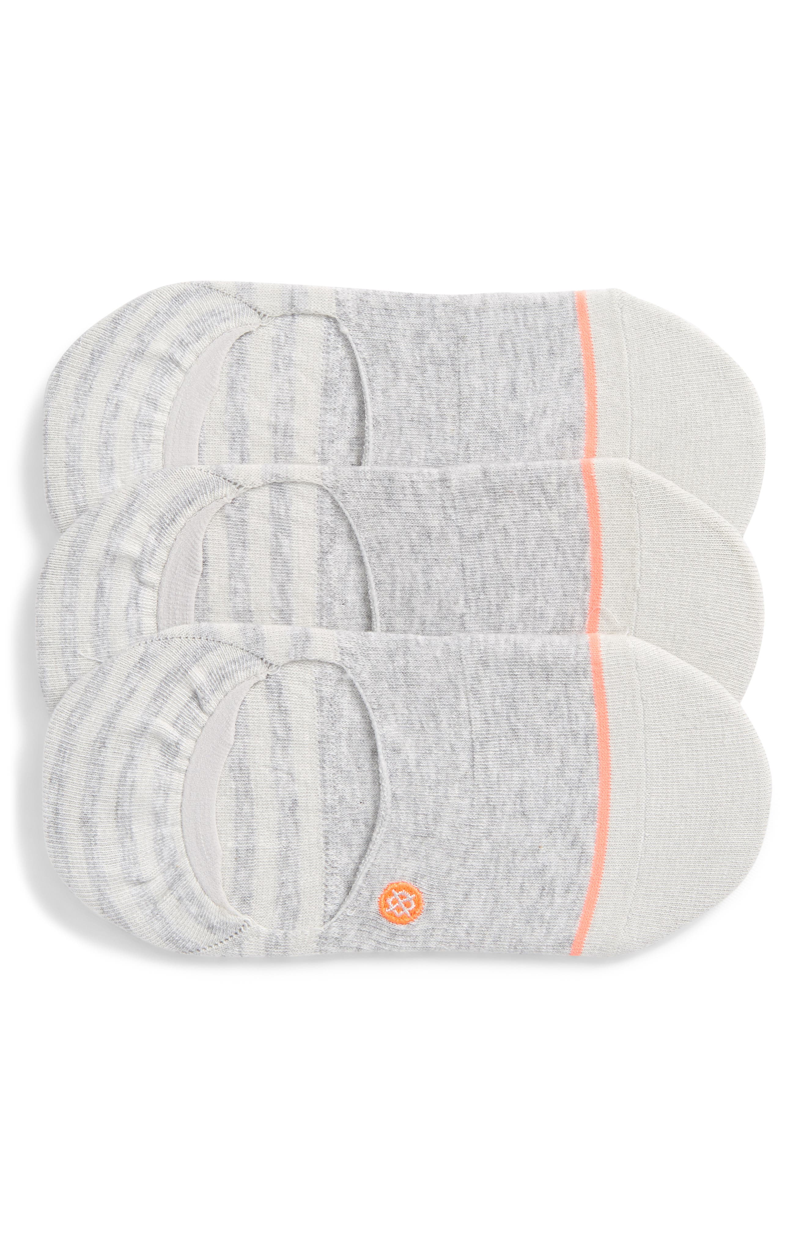 STANCE Invisible Liner Socks, Set Of 3 in Grey
