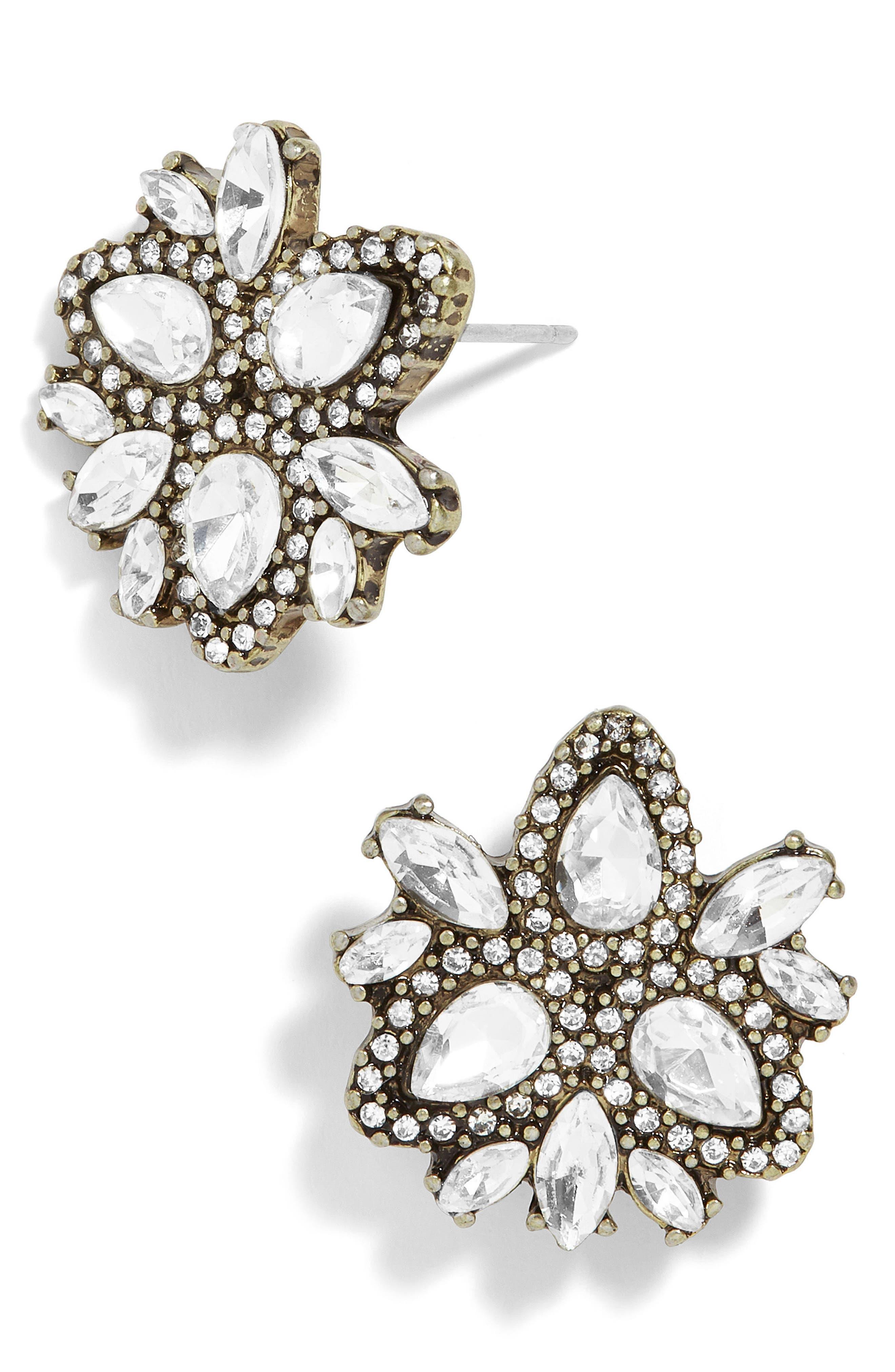 Sophronia Crystal Stud Earrings,                         Main,                         color, Clear