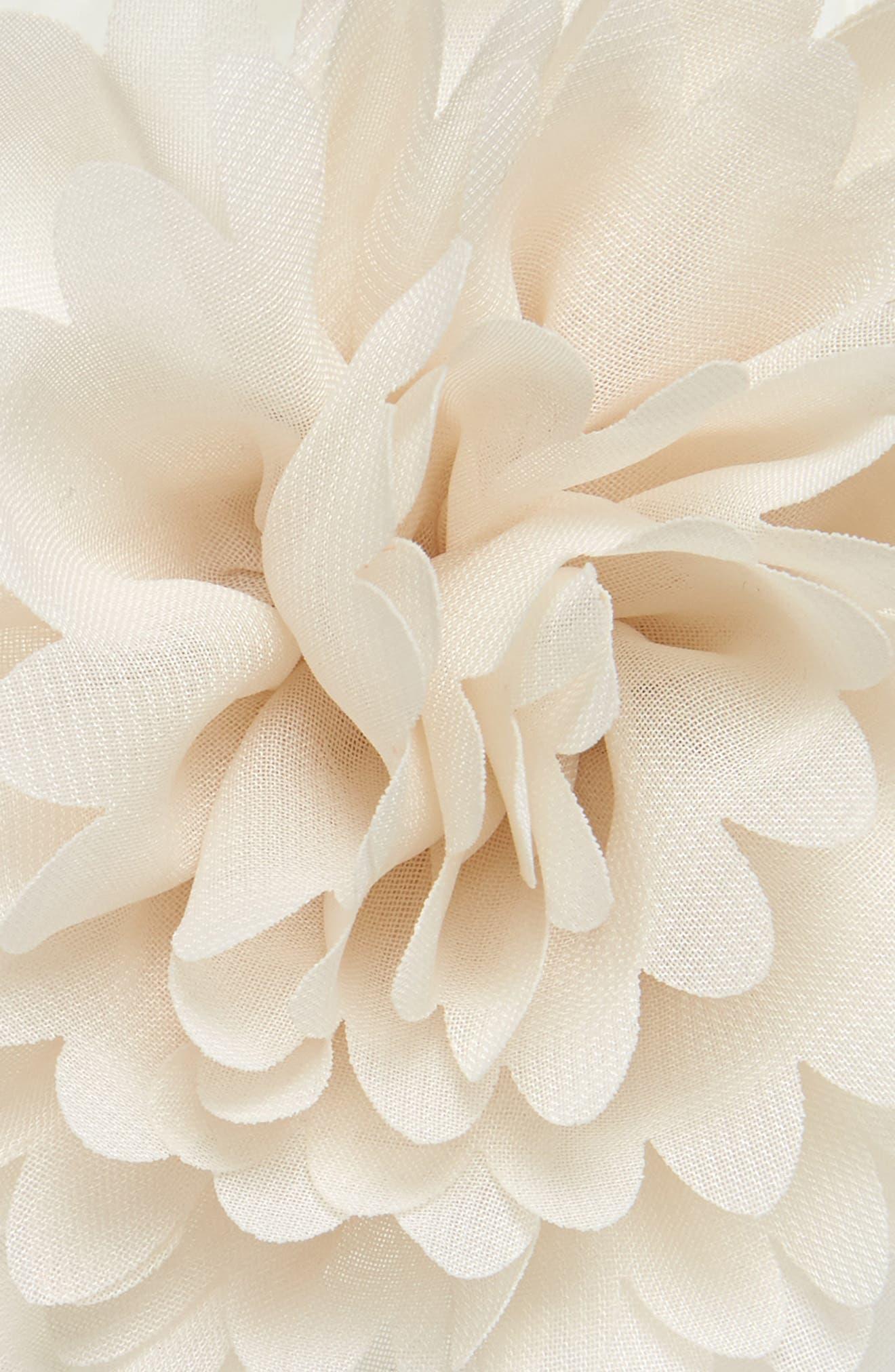 Flower Headband,                             Alternate thumbnail 2, color,                             Ivory