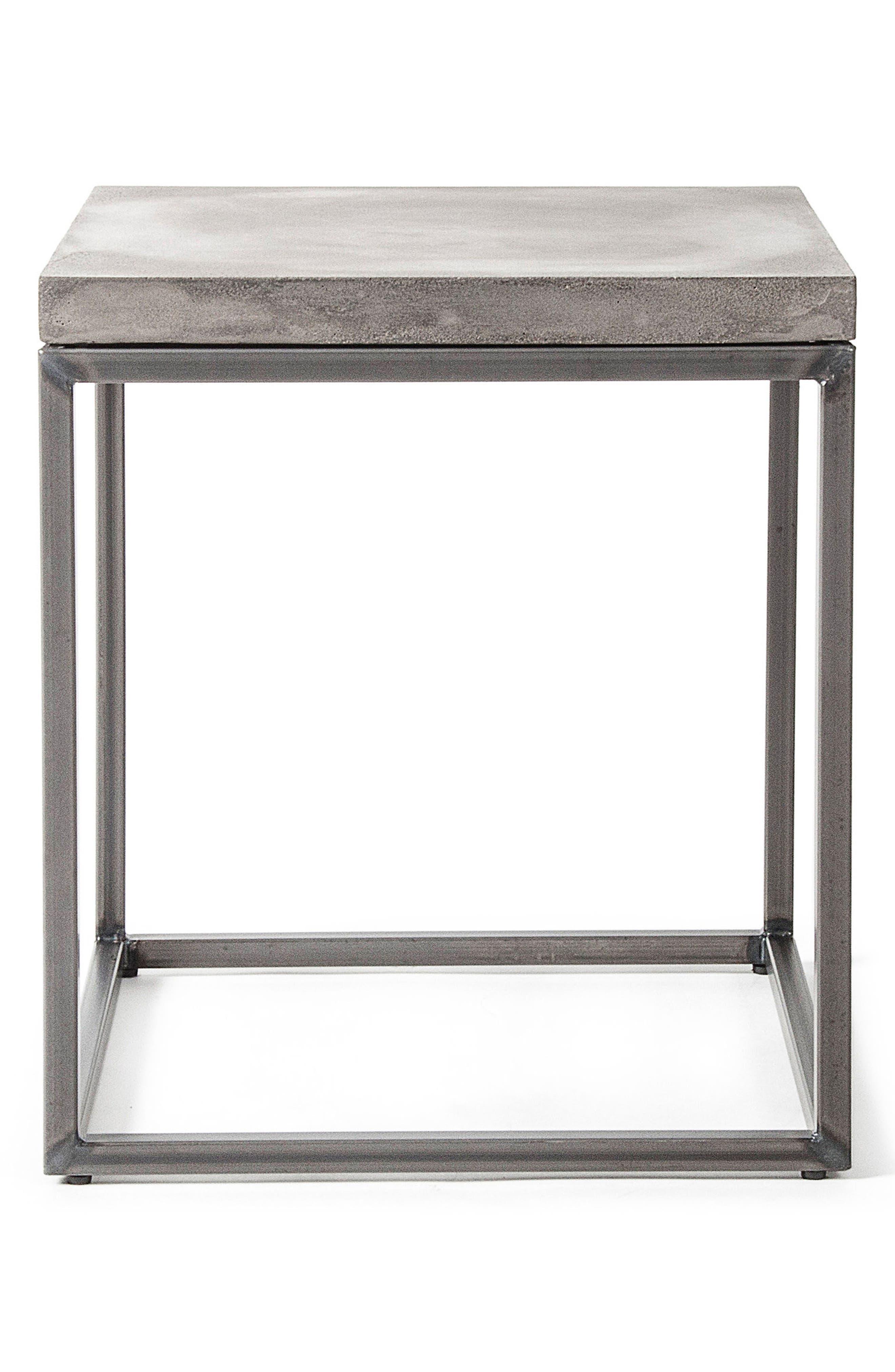 Lyon Béton Perspective Side Table,                             Main thumbnail 1, color,                             Cement